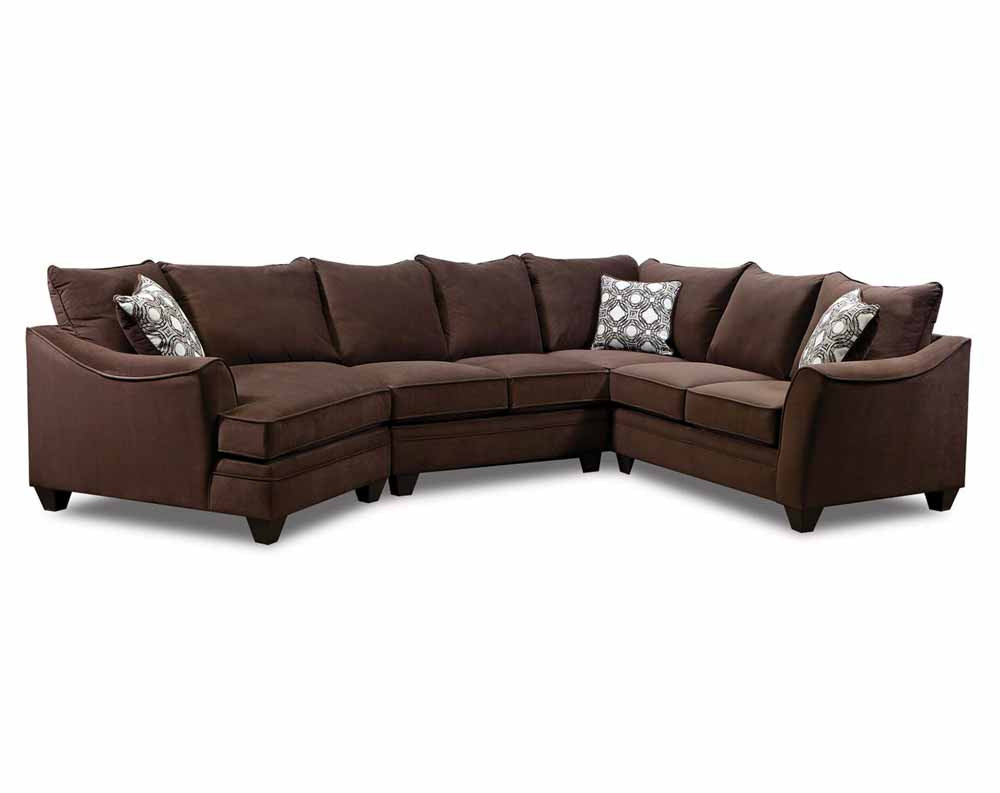 Haven 3 Piece Sectionals With Well Known Factor Chocolate 3 Pc (View 7 of 20)