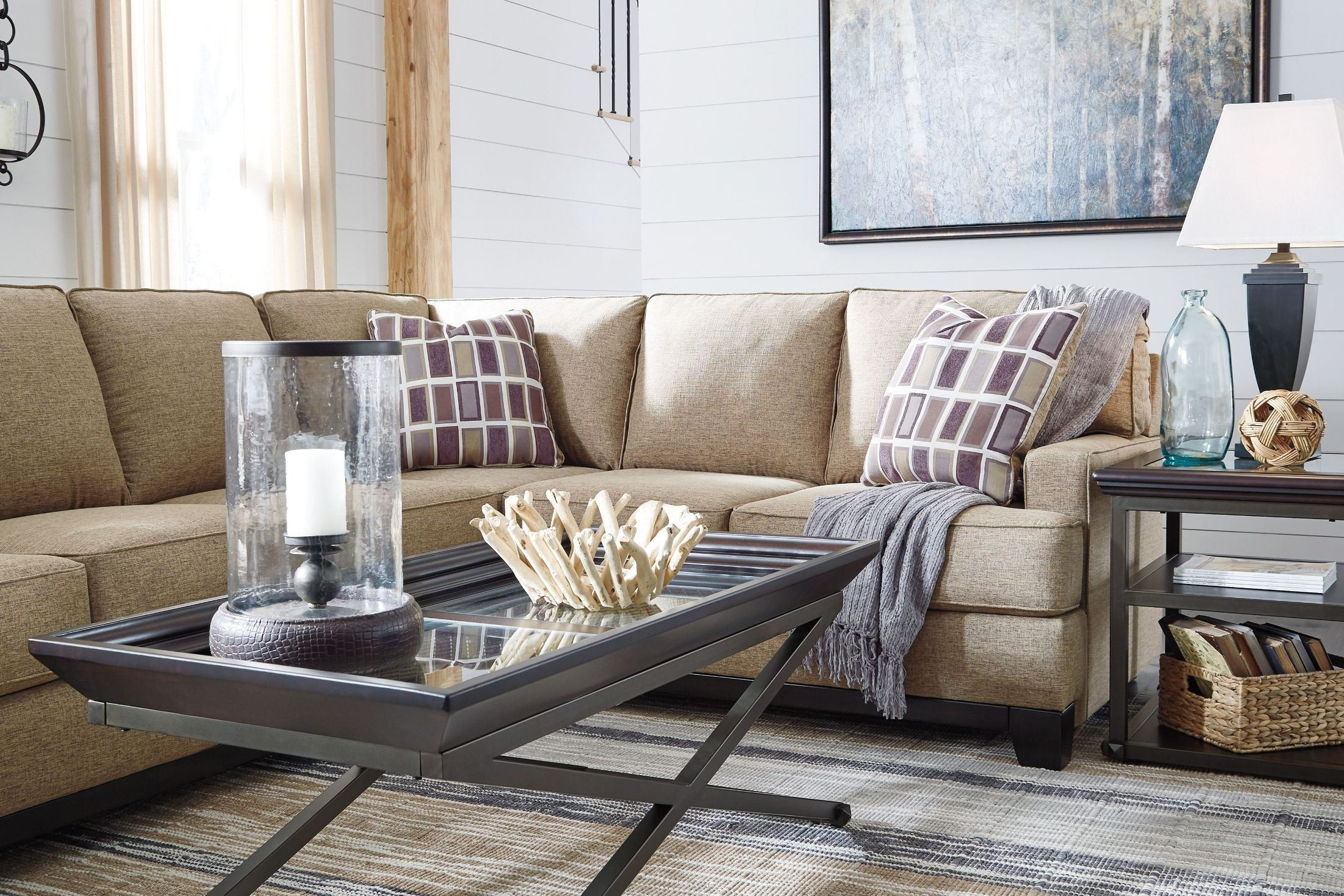 Haven 3 Piece Sectionals Within Trendy Signature Designashley Larkhaven Amber Laf Sectional – Larkhaven (View 5 of 20)