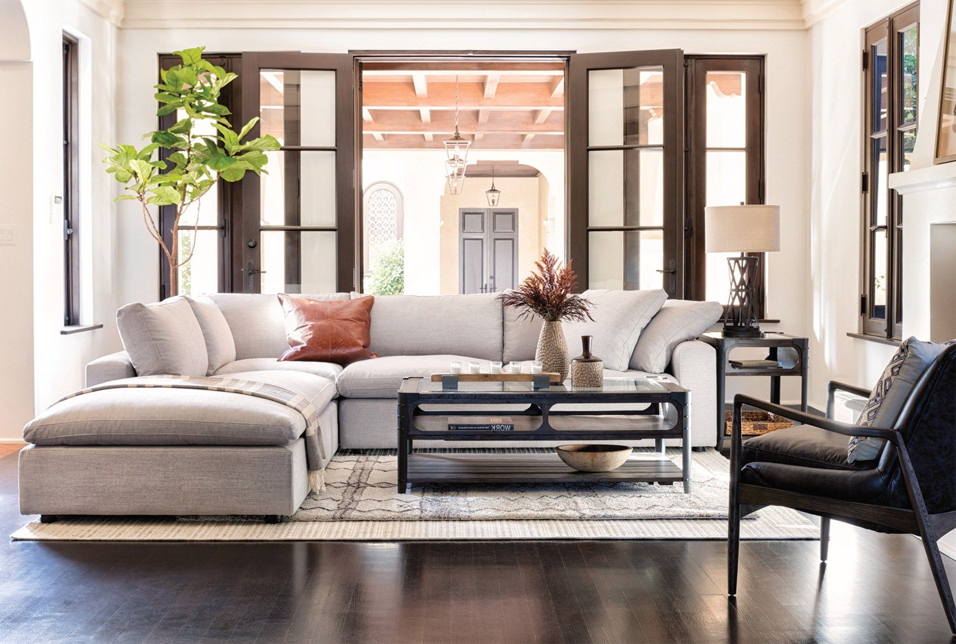 Haven Blue Steel 3 Piece Sectionals Within 2019 Haven 3 Piece Sectional (View 10 of 20)