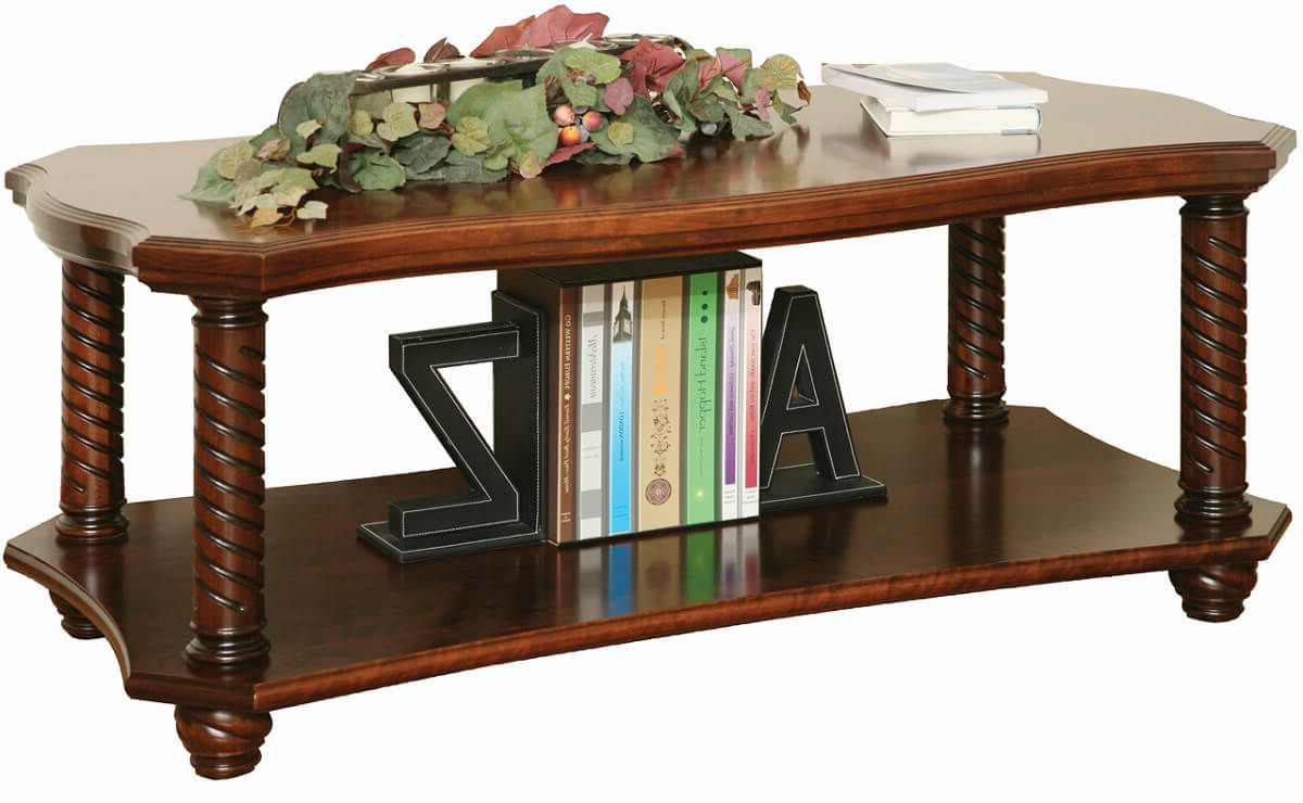 Haven Coffee Tables Regarding Newest New Haven Ornate Coffee Table – Countryside Amish Furniture (View 11 of 20)