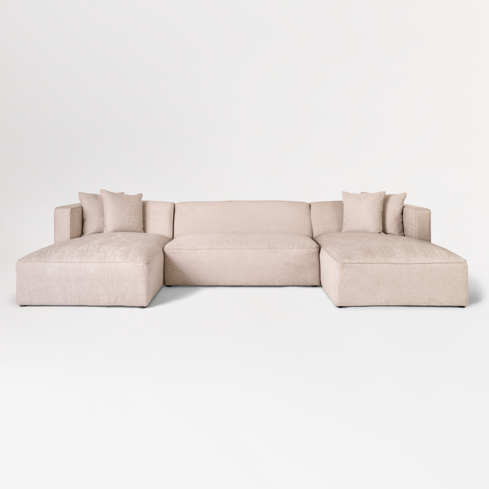 Haven U Shape Sectional – Alder & Tweed Furniture Intended For Well Known Haven 3 Piece Sectionals (View 9 of 20)