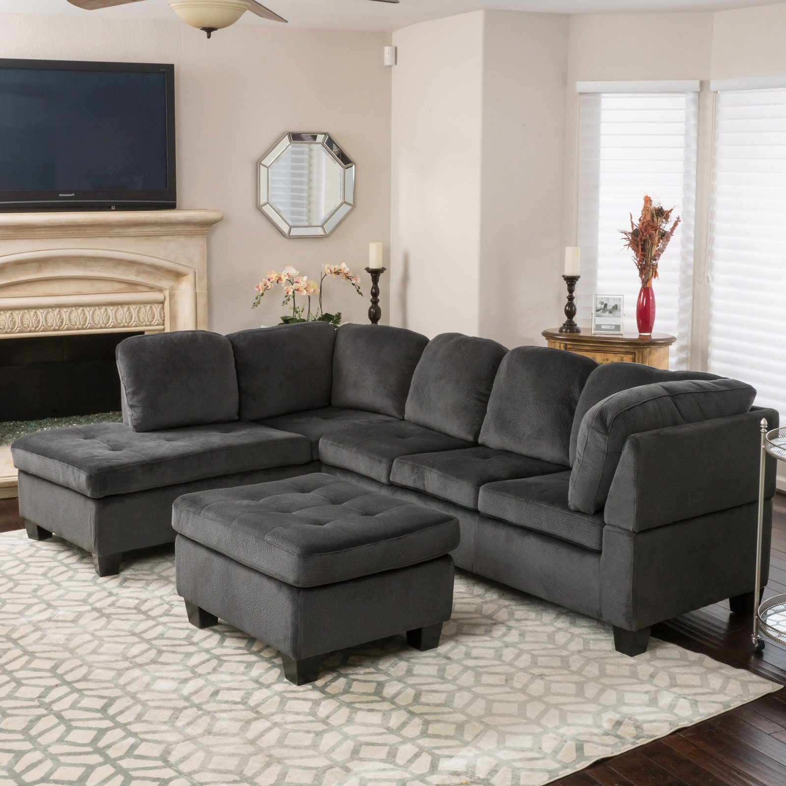 Hayneedle Inside Latest Evan 2 Piece Sectionals With Raf Chaise (View 2 of 20)