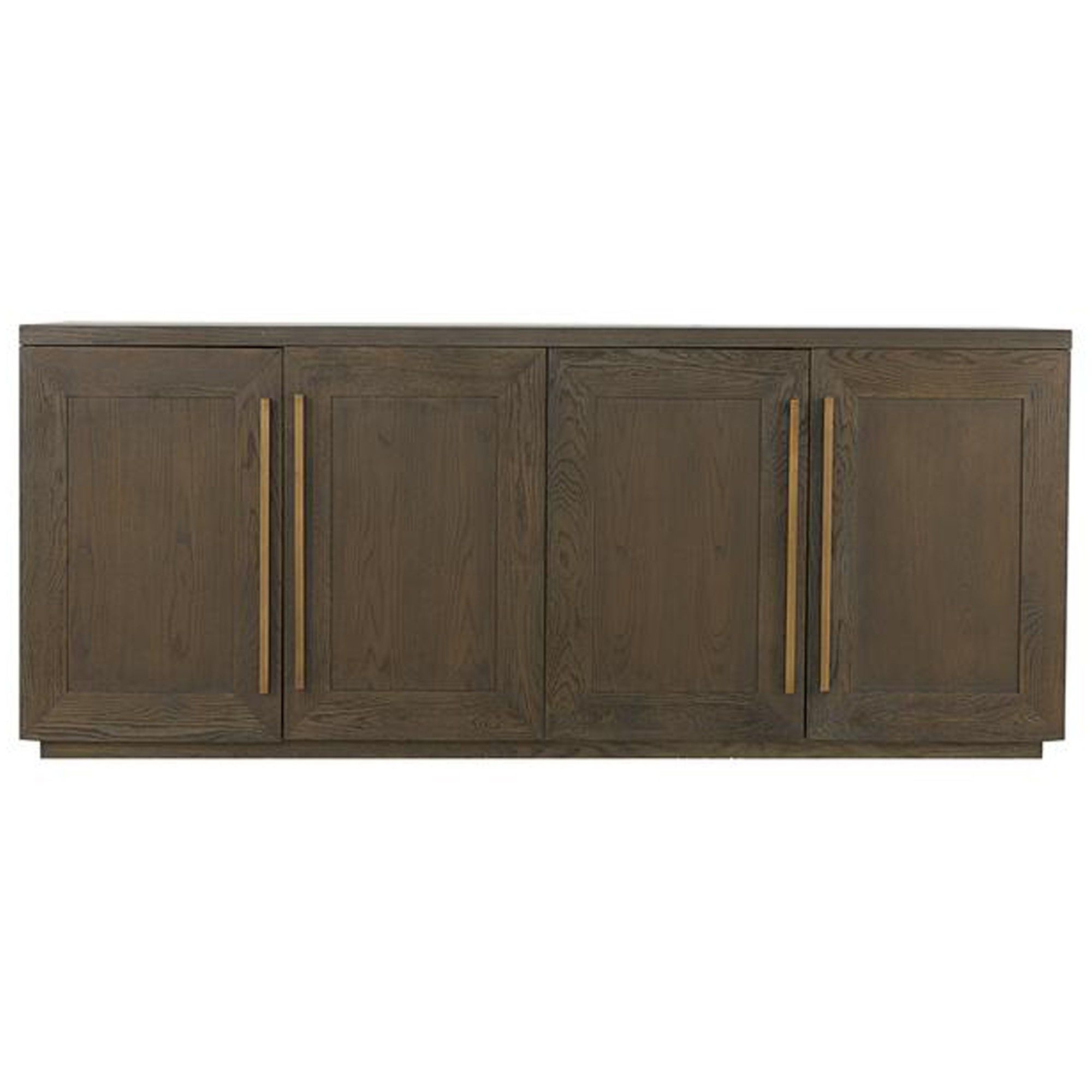 Henli Brown Oak Sideboard With Aged Brass Frame Accents (View 11 of 20)
