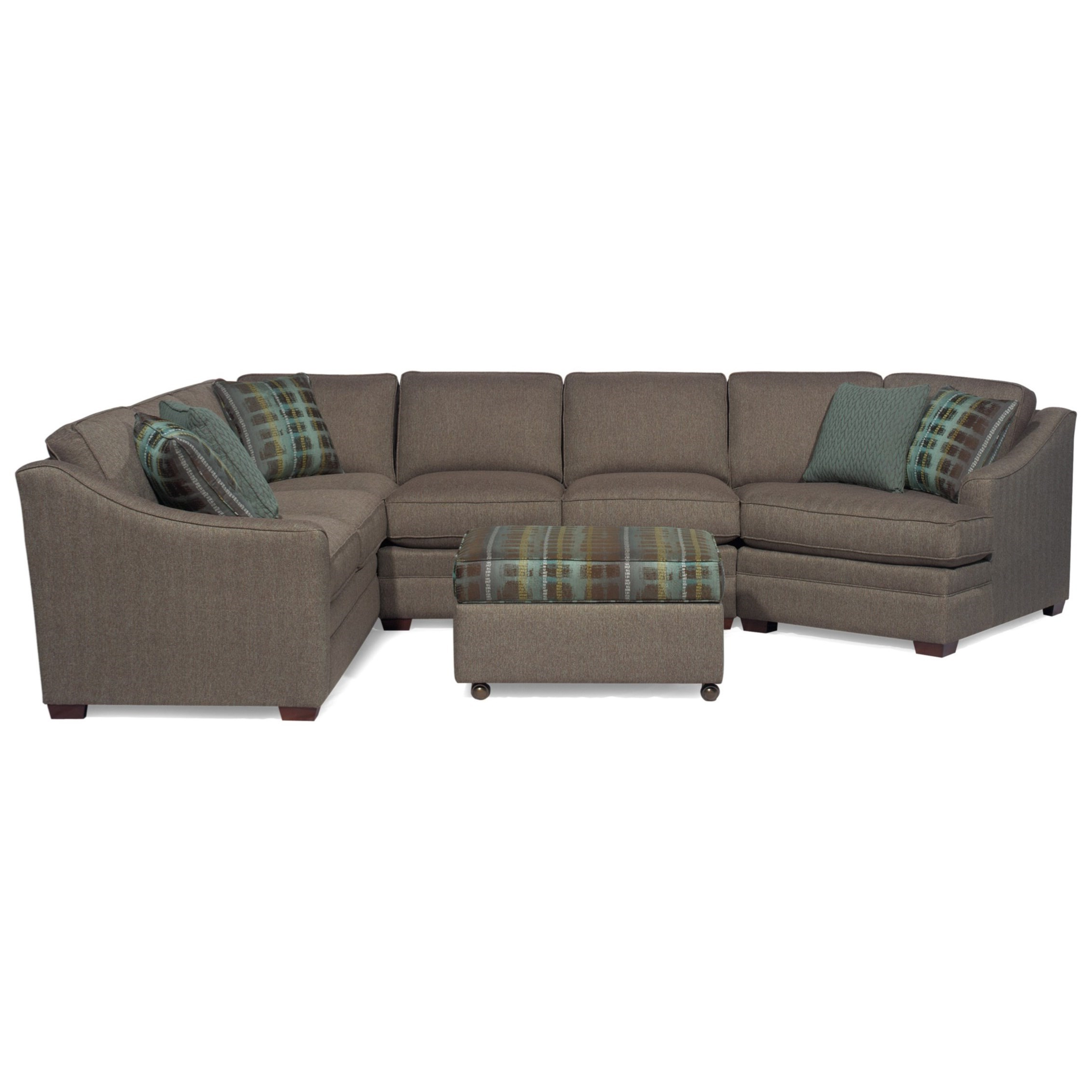 Hickorycraft F9 Custom Collection <B>Customizable</b> 3 Piece In Recent Tatum Dark Grey 2 Piece Sectionals With Laf Chaise (Gallery 7 of 20)
