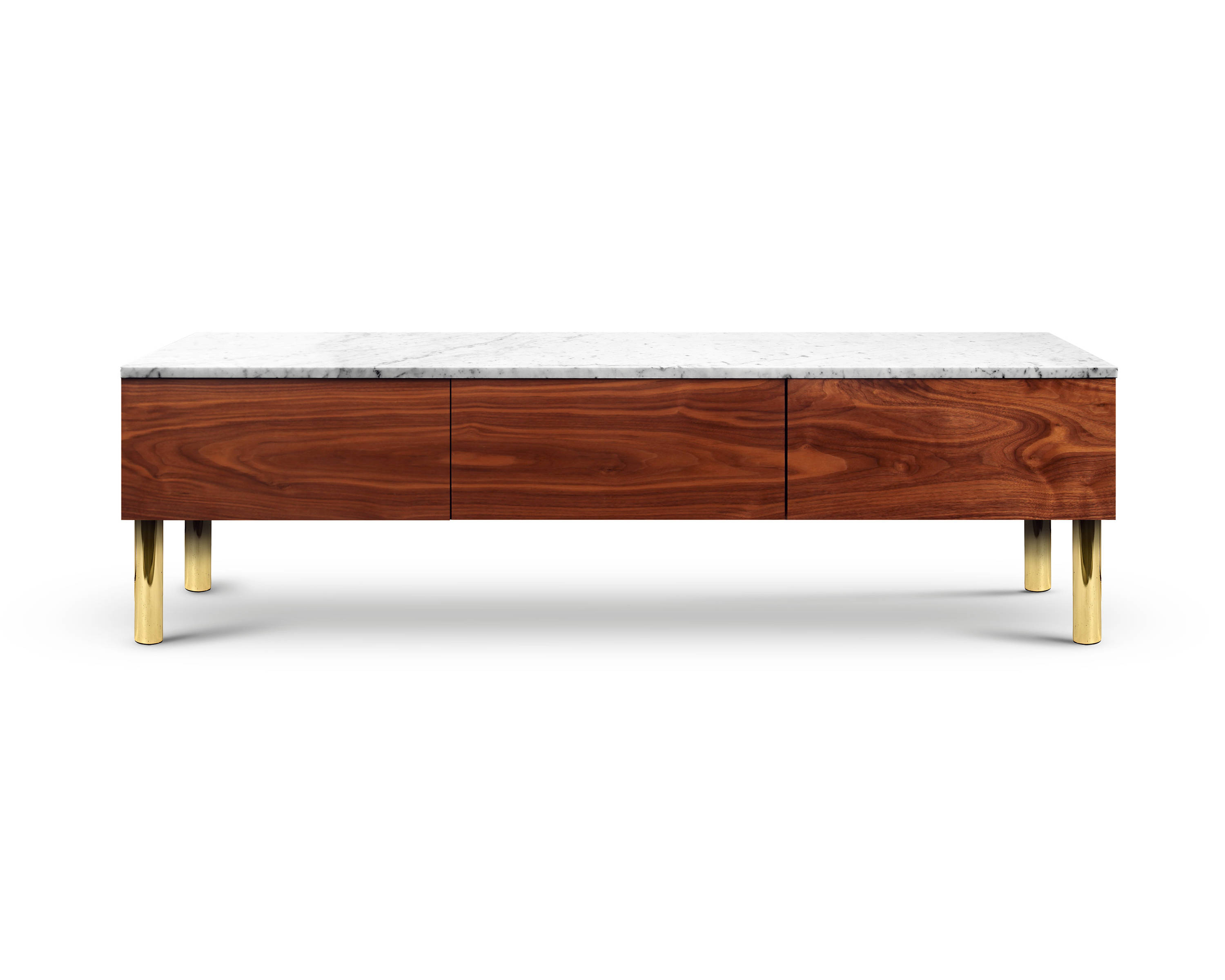 High End Modern Media Console Hifoss. Marble Furniture. Brass. (Gallery 20 of 20)