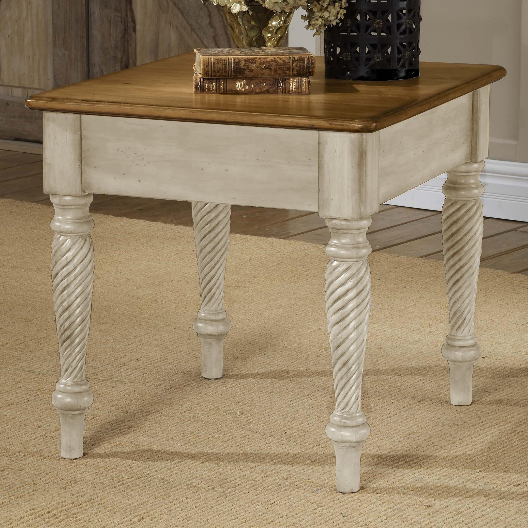 Hillsdale Wilshire Two Tone Charming End Table (View 11 of 20)