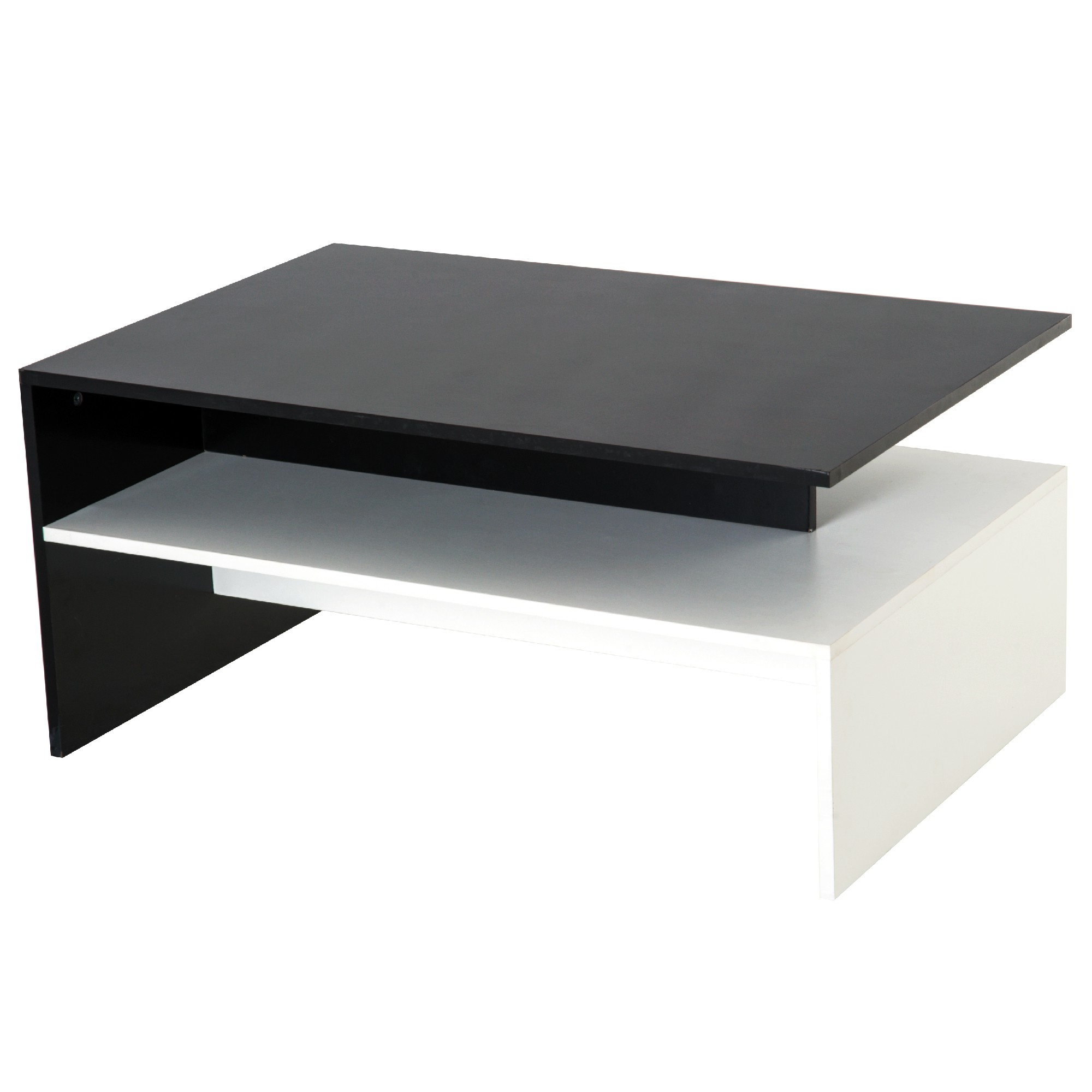 Homcom Minimalist Coffee Table Living Room W/ Storage Shelf (View 16 of 20)