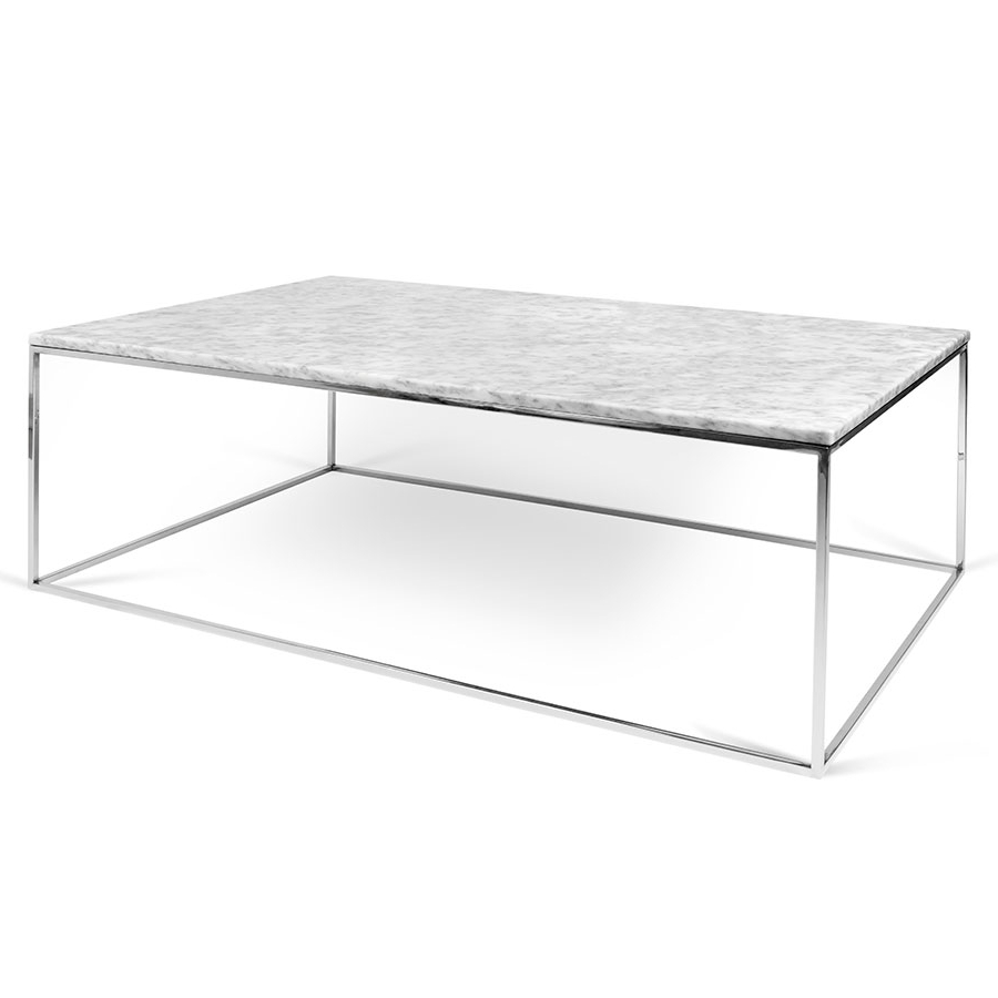 Home Decor: Tempting Marble Top Coffee Table And Gleam White Chrome Regarding Widely Used Smart Round Marble Top Coffee Tables (View 15 of 20)