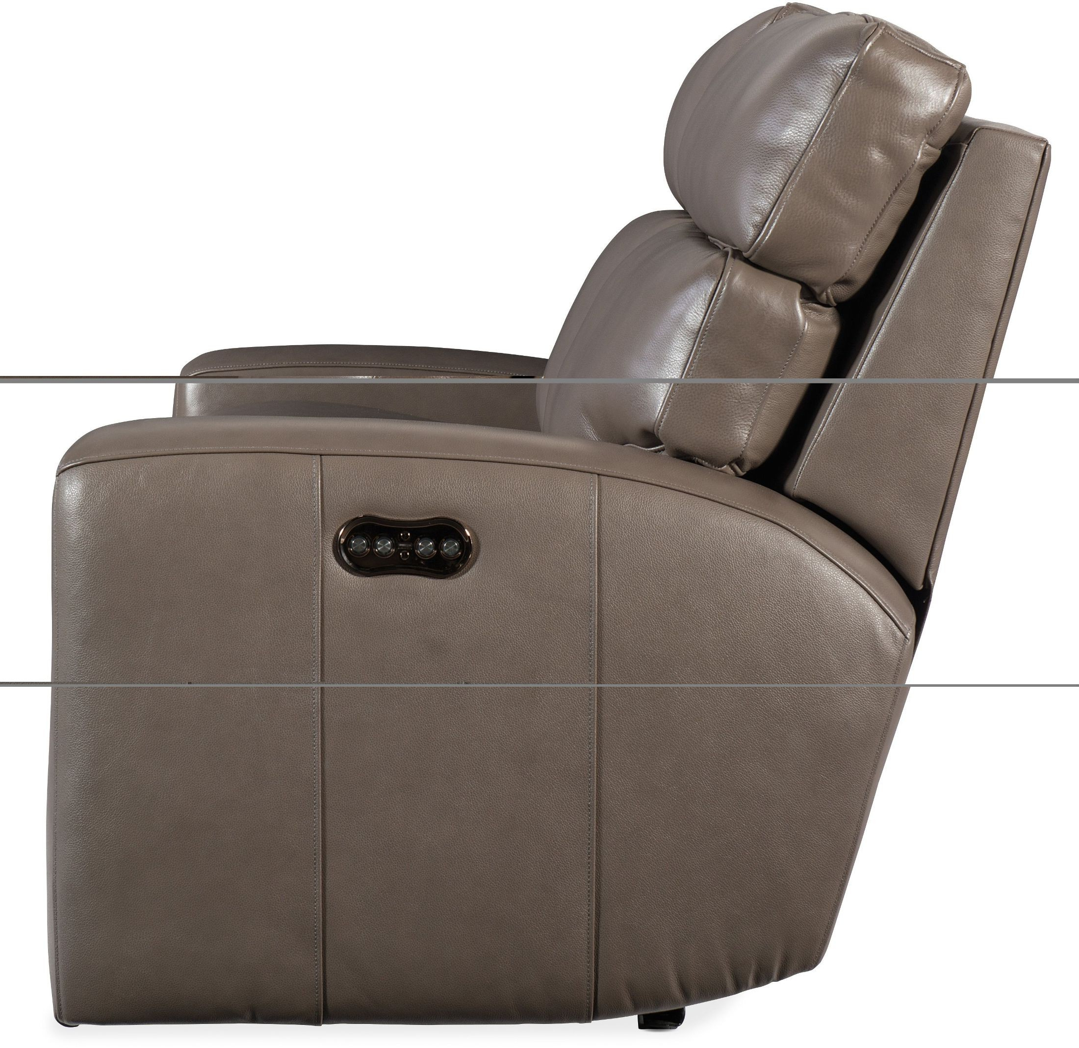 Hooker Mowry Dark Gray Power Reclining Loveseat With Power Headrest Within Well Liked Marcus Grey 6 Piece Sectionals With  Power Headrest & Usb (View 6 of 20)