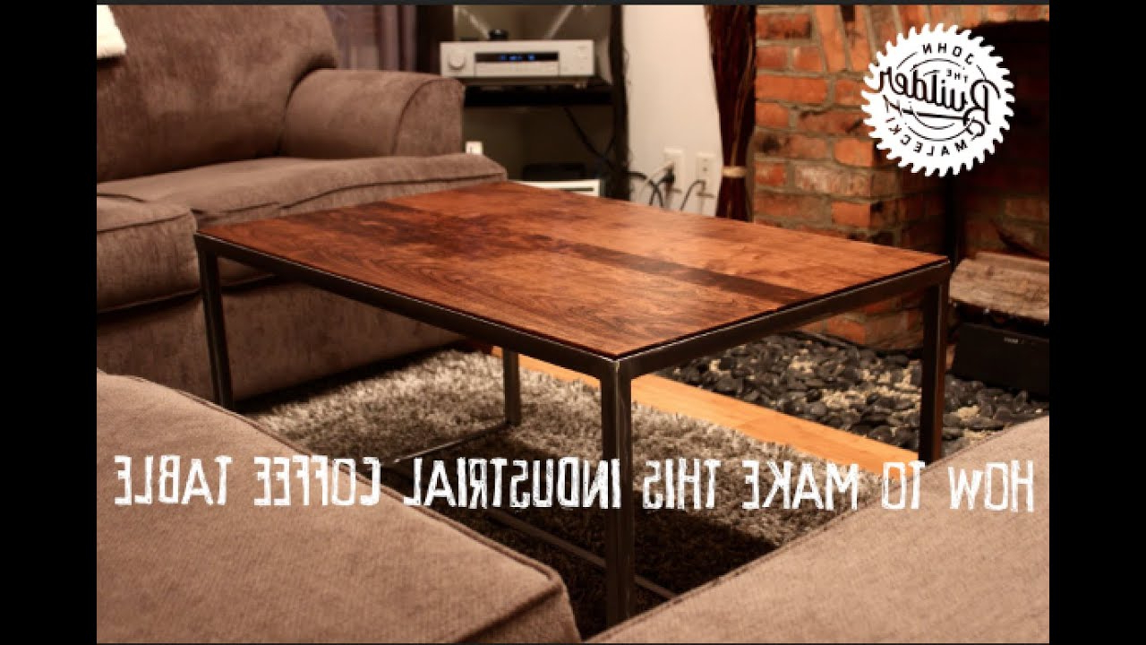 How To Make An Industrial Furniture Wood And Metal Coffee Table Inside Popular Pine Metal Tube Coffee Tables (View 8 of 20)