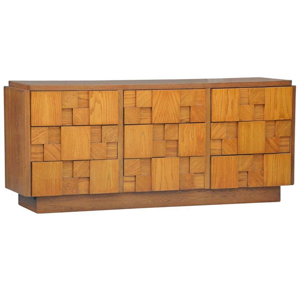 Impressive Brutalist Mosaic Sideboardlane At 1Stdibs With Latest Blue Stone Light Rustic Black Sideboards (View 11 of 20)