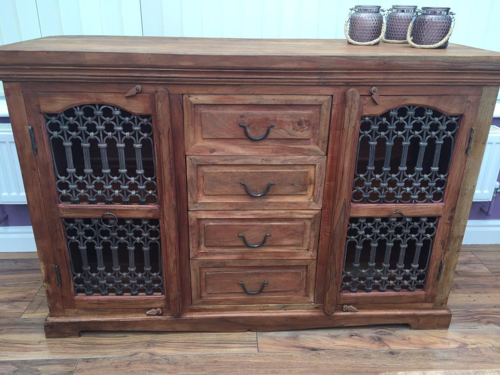 Featured Photo of 4 Door/4 Drawer Cast Jali Sideboards
