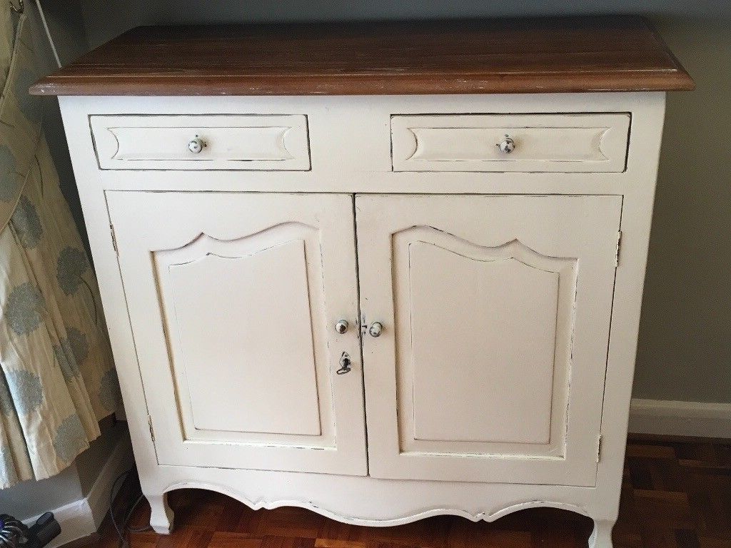 In Throughout Antique White Distressed 3 Drawer/2 Door Sideboards (View 8 of 20)