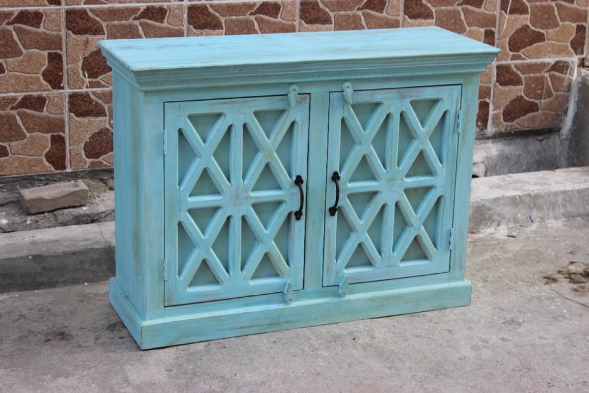Indian Blue Wash Vanity Sideboard (View 7 of 20)