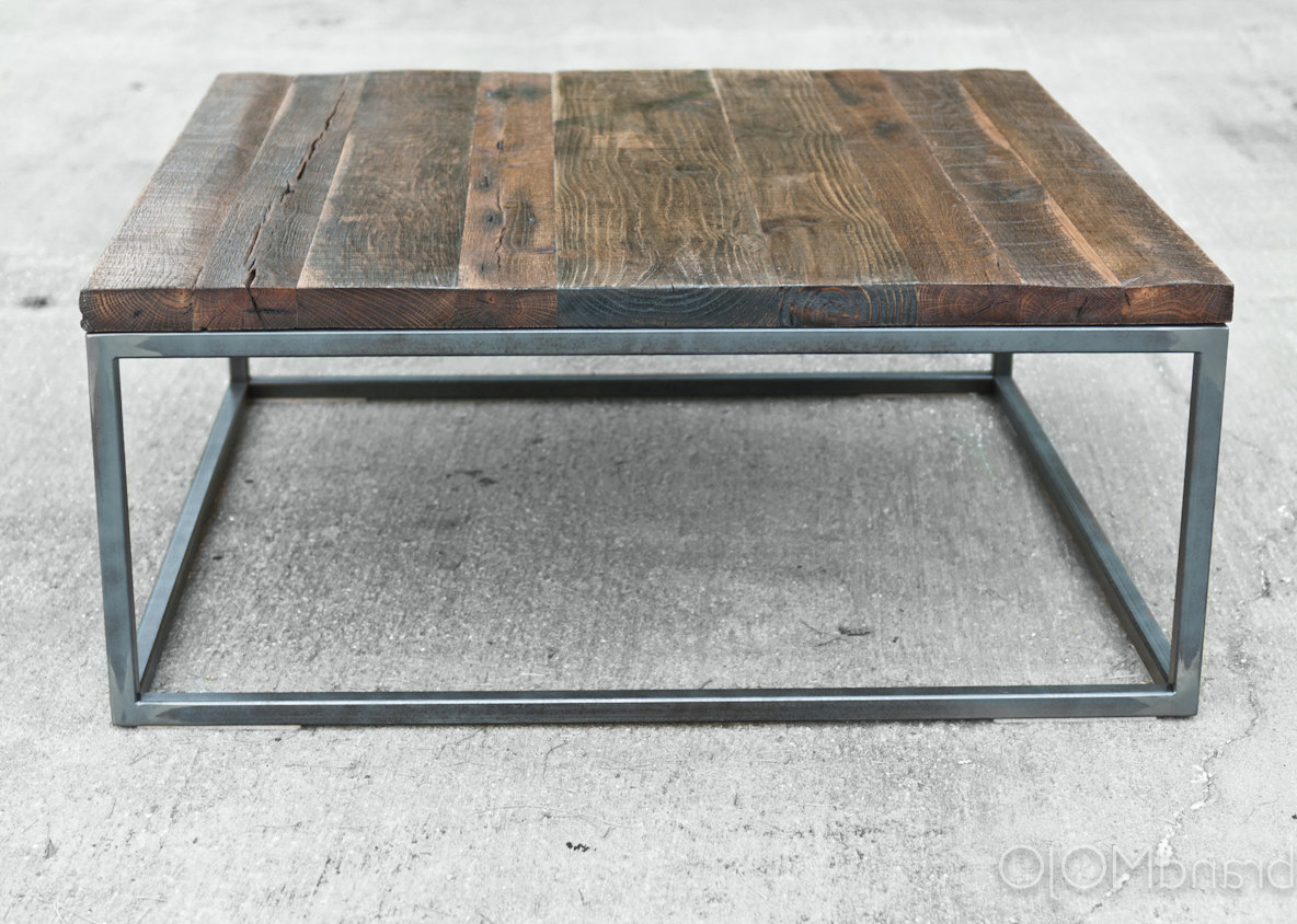 Inspiration Square Reclaimed Wood Coffee Table – Amazing Home Garden In Fashionable Square Waterfall Coffee Tables (View 9 of 20)