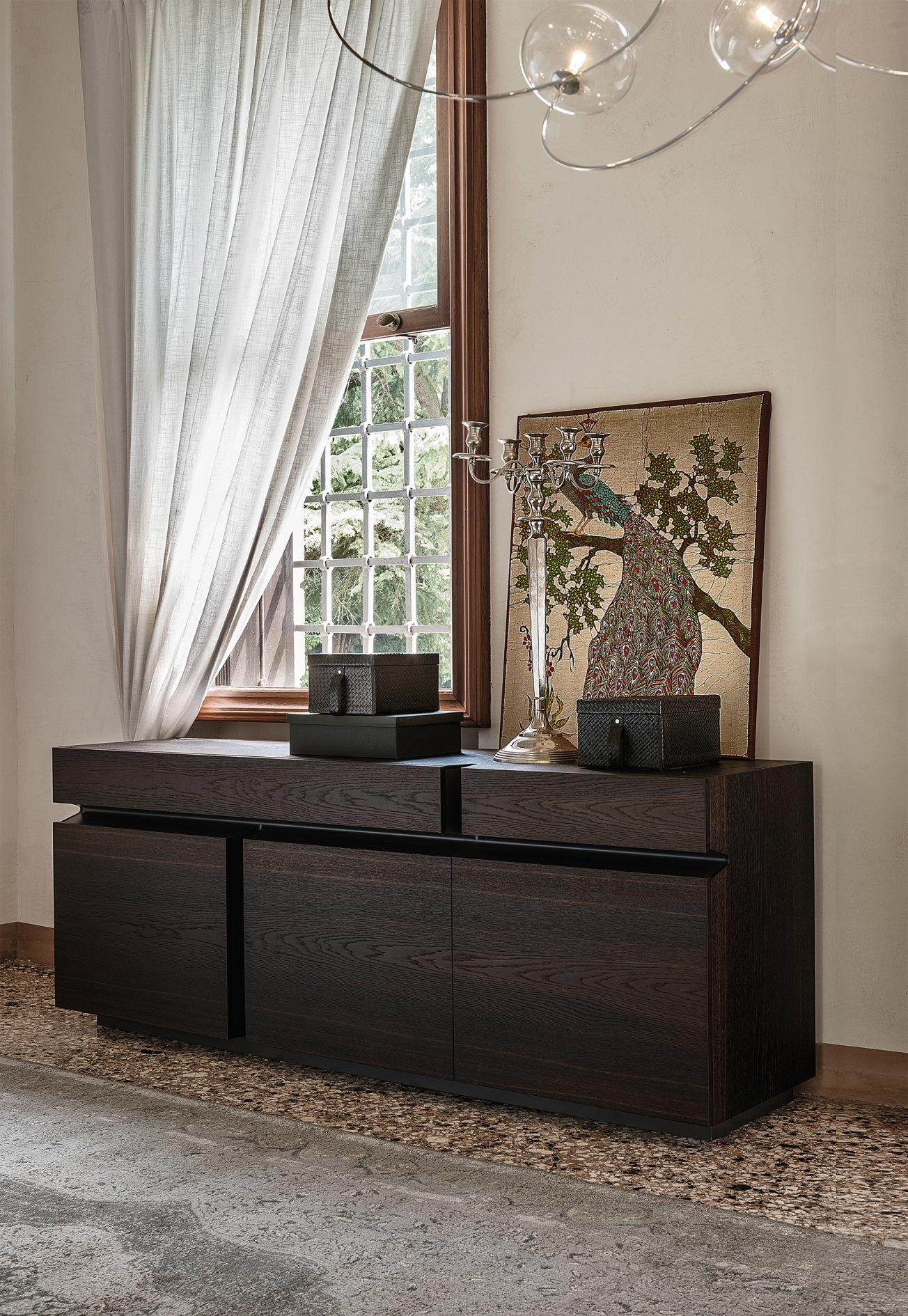 Iq Furniture Inside Burnt Oak Wood Sideboards (View 8 of 20)