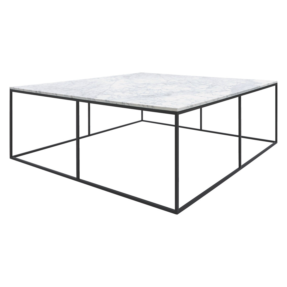 Iron Marble Coffee Tables For Most Recent Nestor Large Square Marble Coffee Table (View 6 of 20)