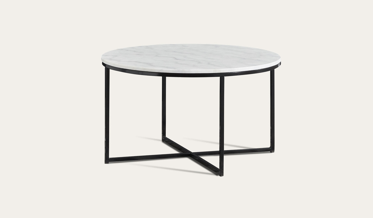 Iron Marble Coffee Tables Regarding Most Recently Released Asima Round Marble Coffee Table (View 8 of 20)