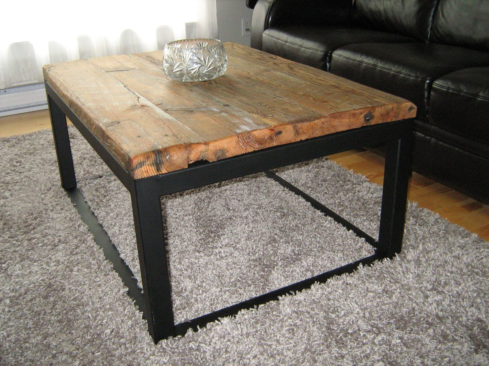 Iron Wood Coffee Tables With Wheels Within Well Known Wood And Metal Coffee Table Awesome – Thelightlaughed (View 14 of 20)