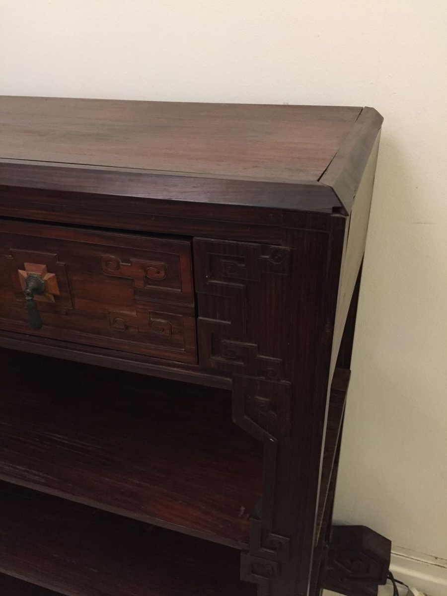 Ironwood 4 Door Sideboards For 2019 Dutch Colonial Ironwood Shelving Unit, 1920S For Sale At Pamono (View 8 of 20)