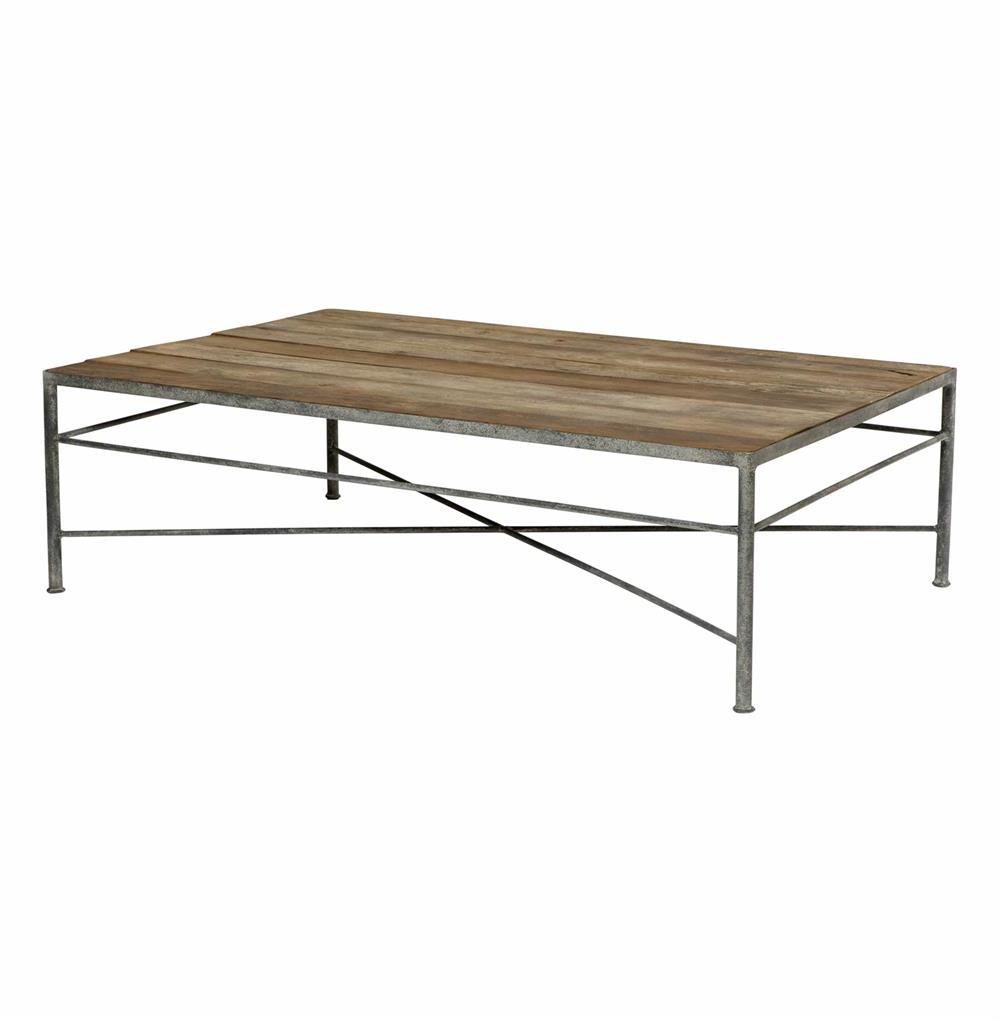 Isabelle Reclaimed Wood Metal Modern Rustic Coffee Table (Gallery 5 of 20)