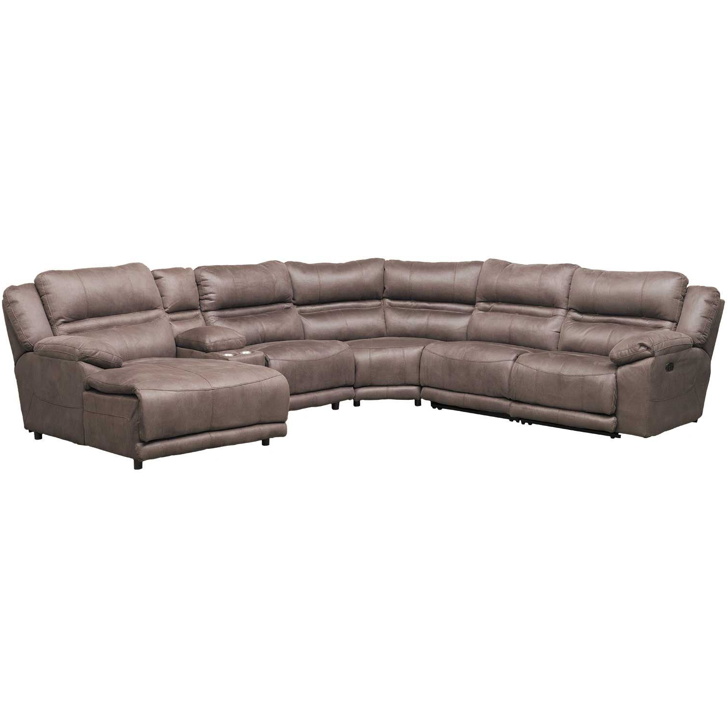 Jackson 6 Piece Power Reclining Sectionals With  Sleeper For Widely Used Braxton 6 Piece Power Reclining Sectional With Adjustable Headrest (View 4 of 20)