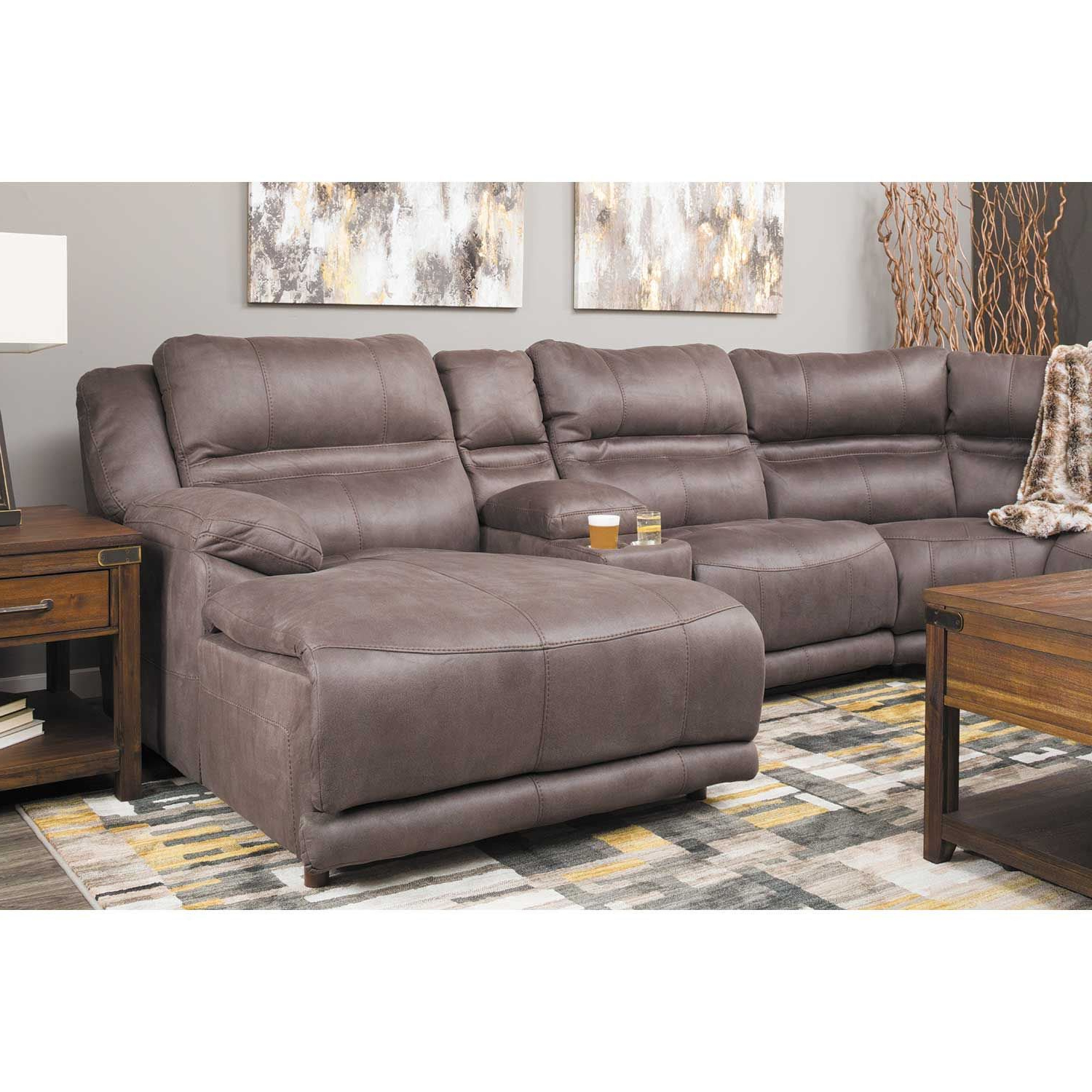 Jackson 6 Piece Power Reclining Sectionals With  Sleeper Regarding Trendy Braxton 6 Piece Power Reclining Sectional With Adjustable Headrest (View 7 of 20)
