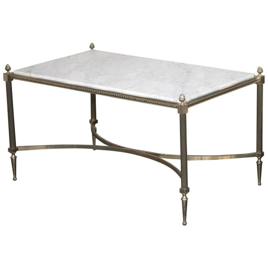 Jackson Marble Side Tables Regarding Fashionable Antique French Louis Xvi Maison Jansen Style Bronze Carrara Marble (Gallery 11 of 20)