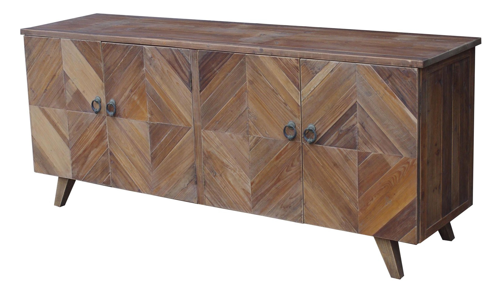 Jj 1728 Reclaimed Pine 4 Door Modern Sideboard Buffet With Regard To Well Liked Reclaimed Pine 4 Door Sideboards (Gallery 5 of 20)