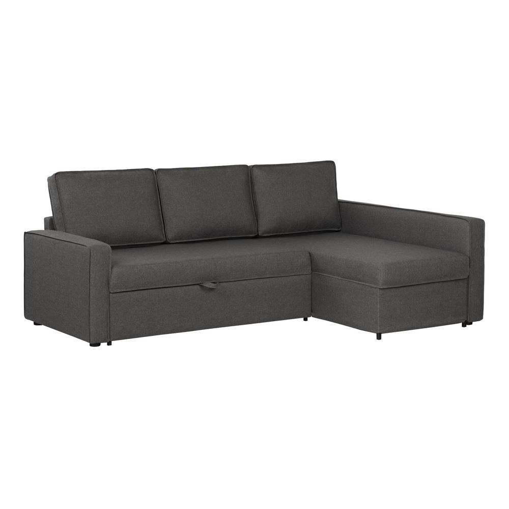 Jobs Oat 2 Piece Sectionals With Left Facing Chaise Within 2018 South Shore Live It Cozy 2 Piece Charcoal Gray Sectional (View 8 of 20)