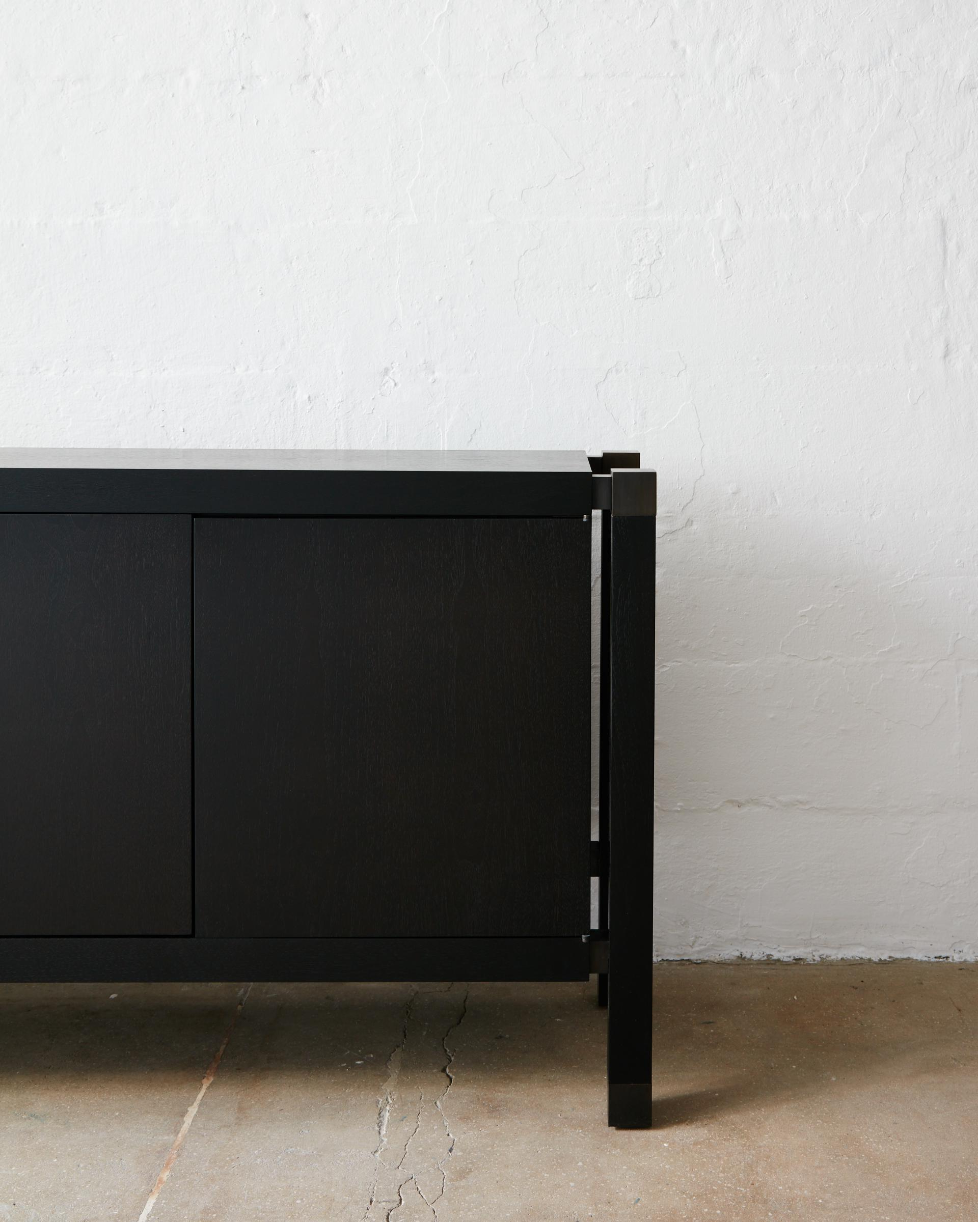 Joinery Credenzabilly Cotton In Blackened Oak And Blackened Throughout Most Up To Date Mid Burnt Oak 71 Inch Sideboards (View 13 of 20)