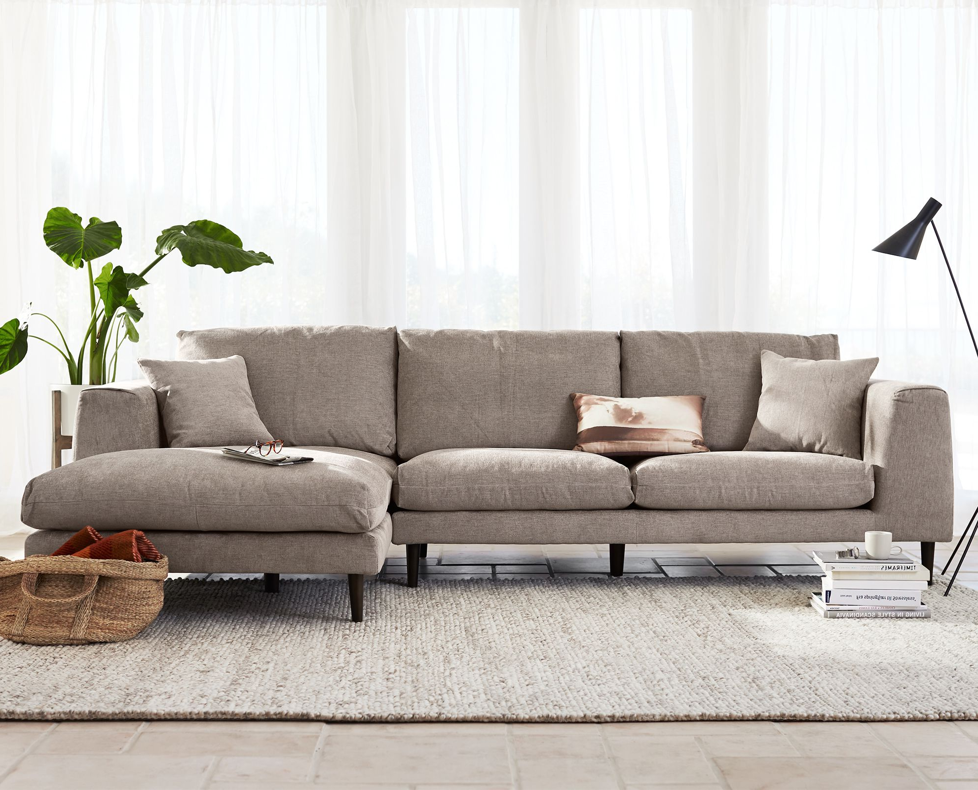 Jorgen Chaise Sectional From Dania Furniture Co. #sectional #sofa With Fashionable Tenny Cognac 2 Piece Right Facing Chaise Sectionals With 2 Headrest (Gallery 16 of 20)