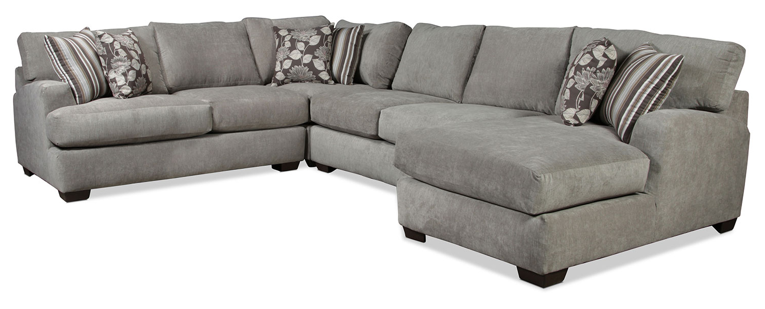 Josephine 2 Piece Sectionals With Laf Sofa For Latest Torrey 4 Piece Left Facing Sectional – Gray (Gallery 5 of 20)