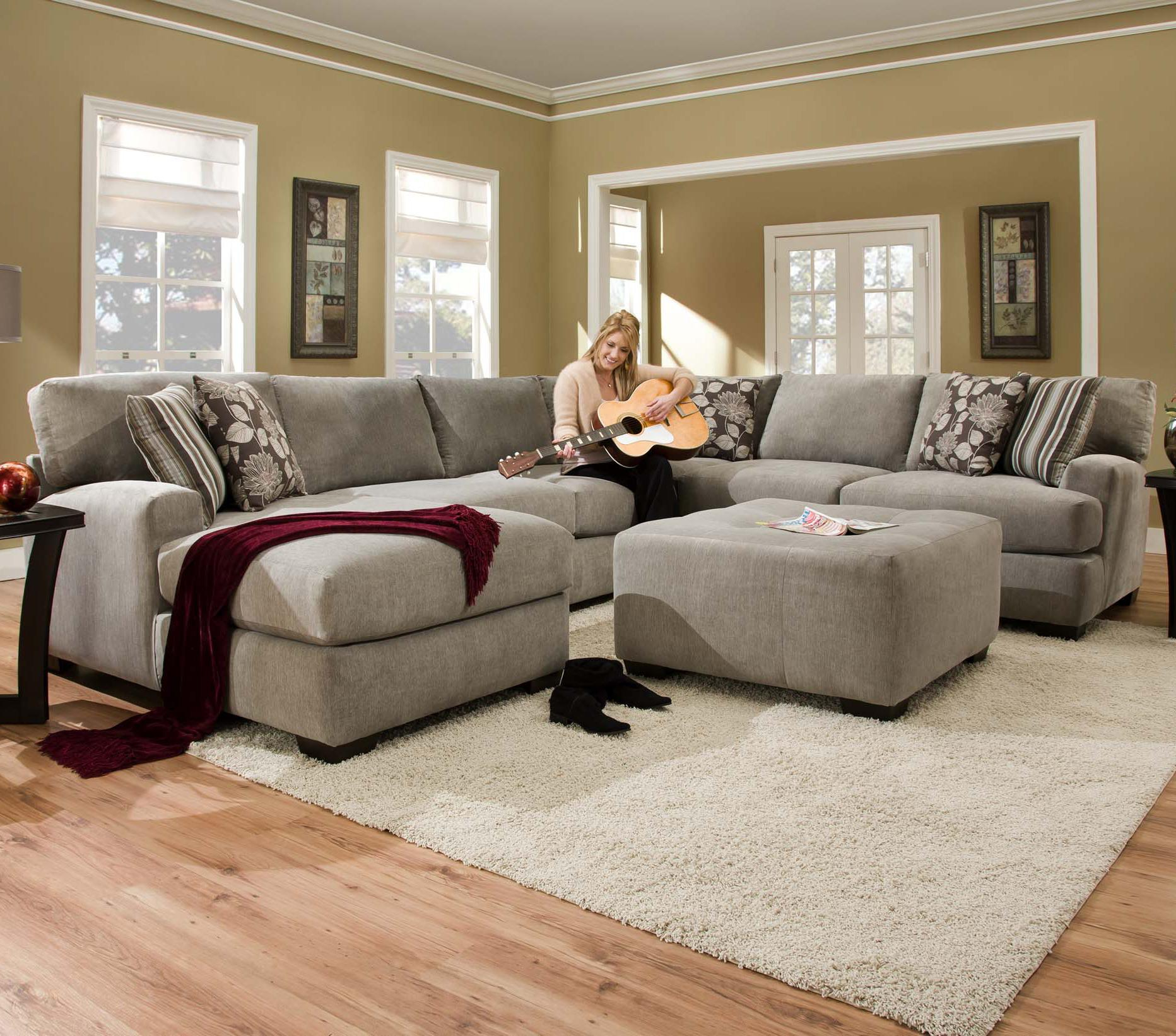 Josephine 2 Piece Sectionals With Laf Sofa For Recent Corinthian 29A0 Ottoman For Use With Chair (Gallery 7 of 20)
