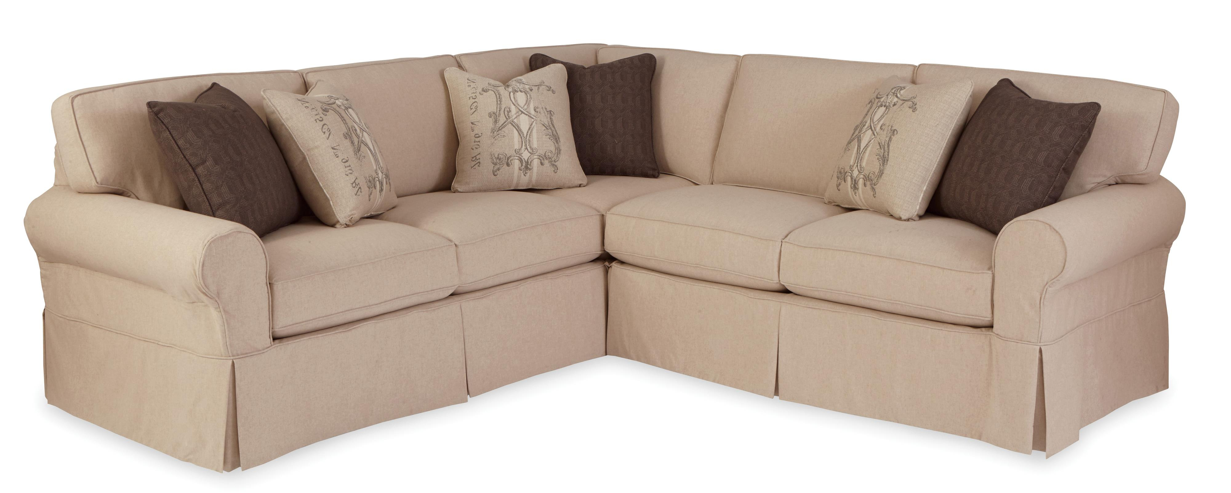 Josephine 2 Piece Sectionals With Laf Sofa In Recent Craftmaster 9228 Two Piece Slipcovered Sectional Sofa With Raf (Gallery 9 of 20)