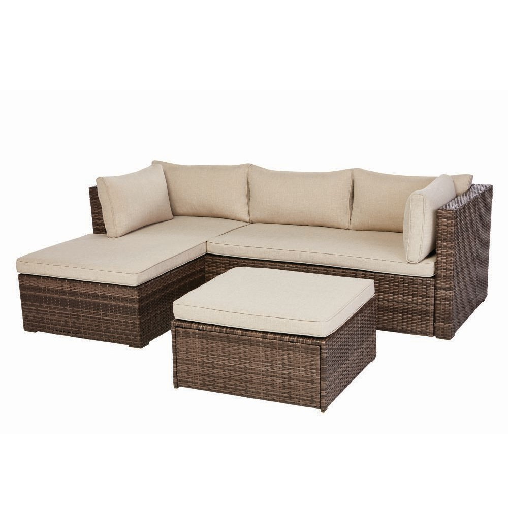 Karen 3 Piece Sectionals With Most Recently Released Valley Peak Low Profile 3 Piece All Weather Wicker Sectional Patio (View 12 of 20)