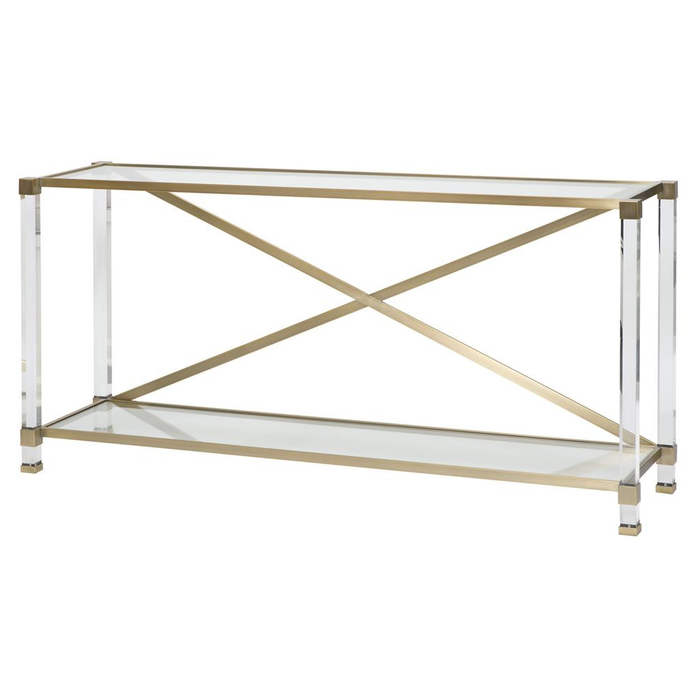 Kathy Regarding Acrylic & Brushed Brass Coffee Tables (Gallery 8 of 20)