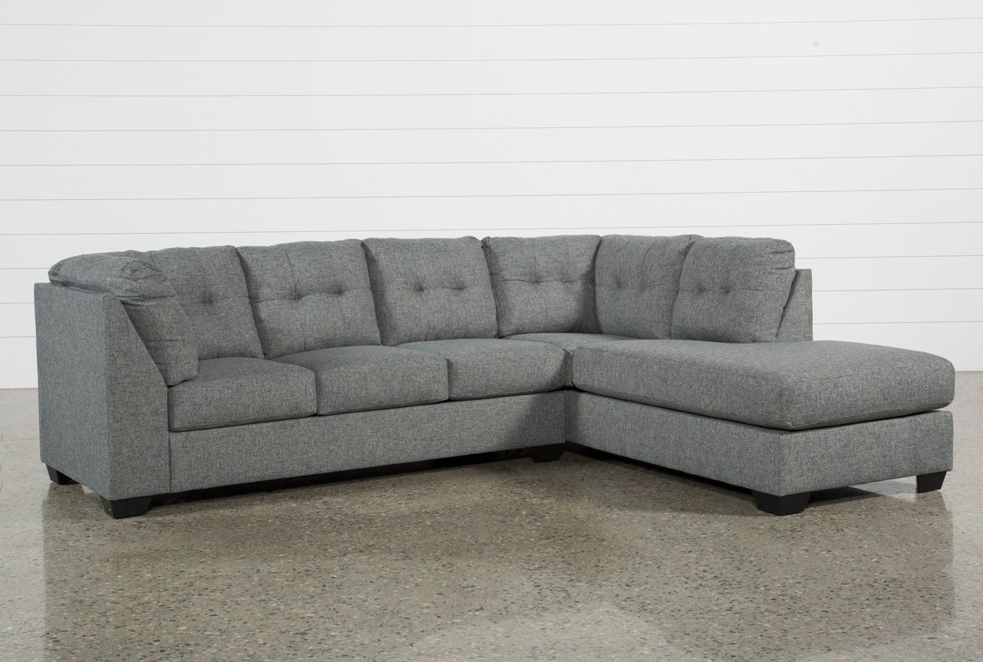 Kerri 2 Piece Sectionals With Raf Chaise In Most Recent Cosmos Grey 2 Piece Sectional W/laf Chaise (View 7 of 20)