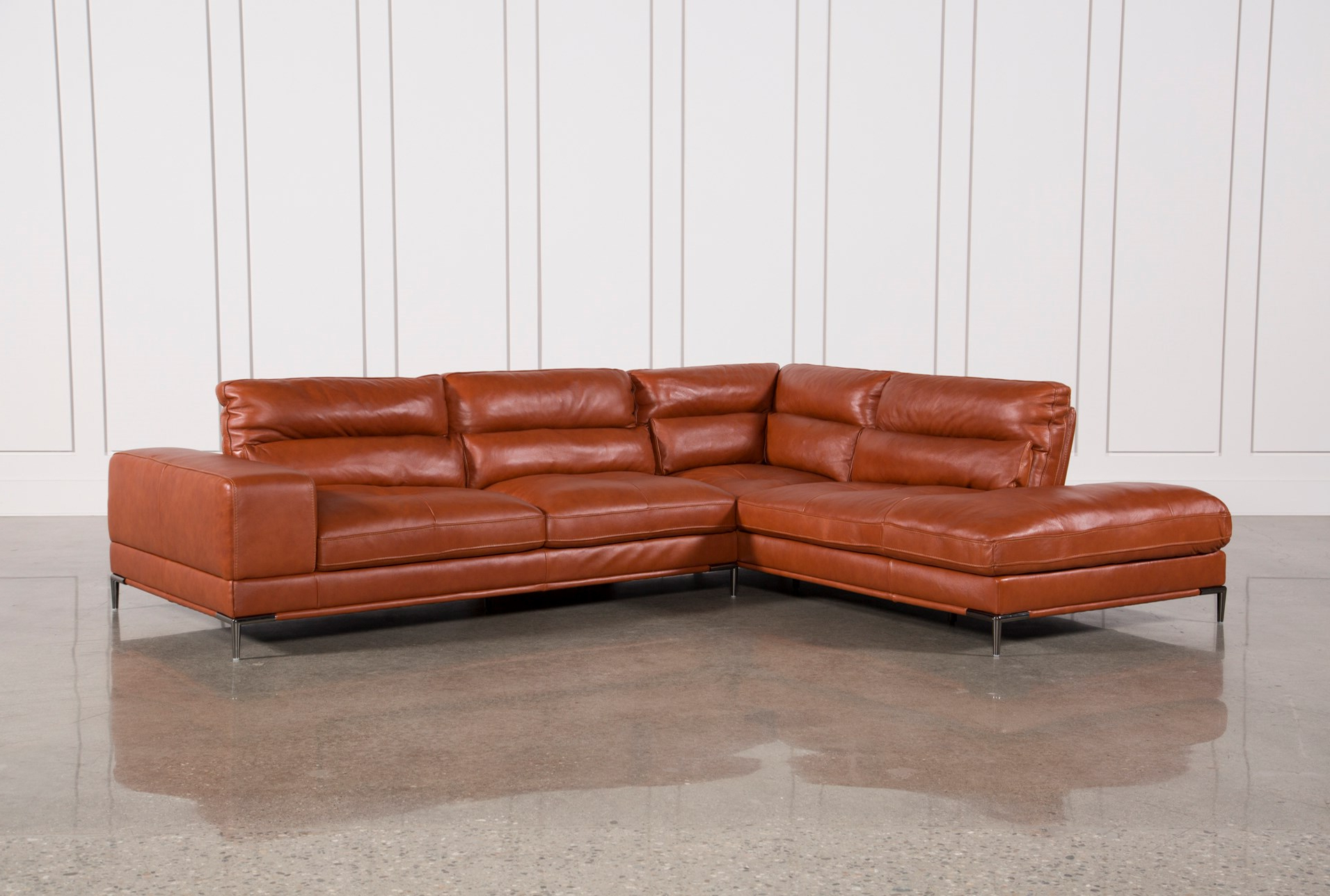 Kerri 2 Piece Sectionals With Raf Chaise Inside Fashionable Deep Sectional Sofa Leather (View 9 of 20)