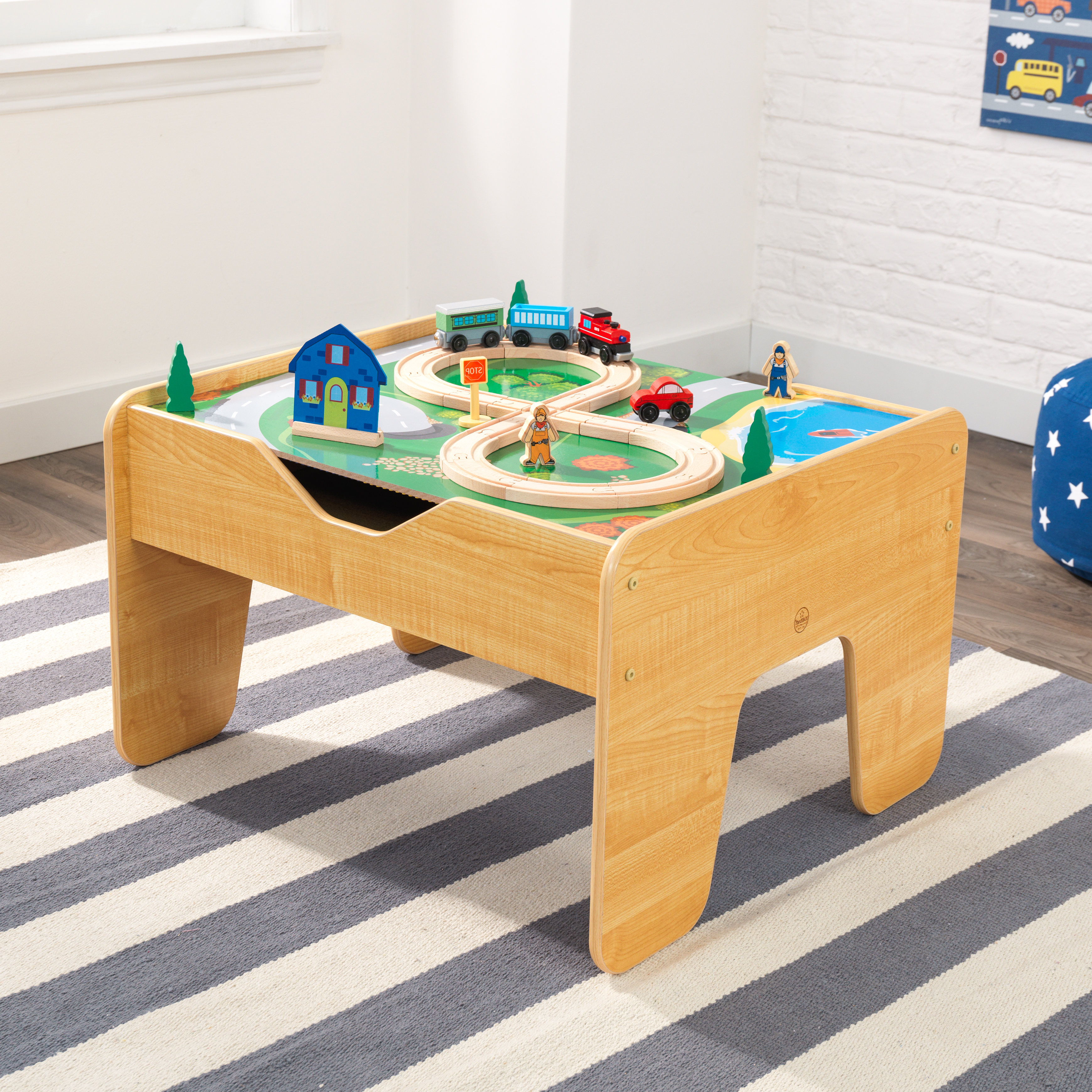 Kidkraft Activity 2 In 1 Kids Square Lego/train Table & Reviews With Preferred Potomac Adjustable Coffee Tables (Gallery 11 of 20)