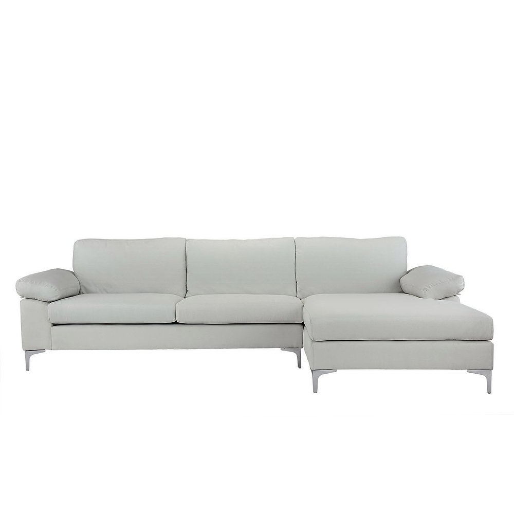 Kristen Silver Grey 6 Piece Power Reclining Sectionals With Most Recently Released Shop Modern Large Linen Sectional Sofa, L Shape Couch, Wide Chaise (Gallery 20 of 20)