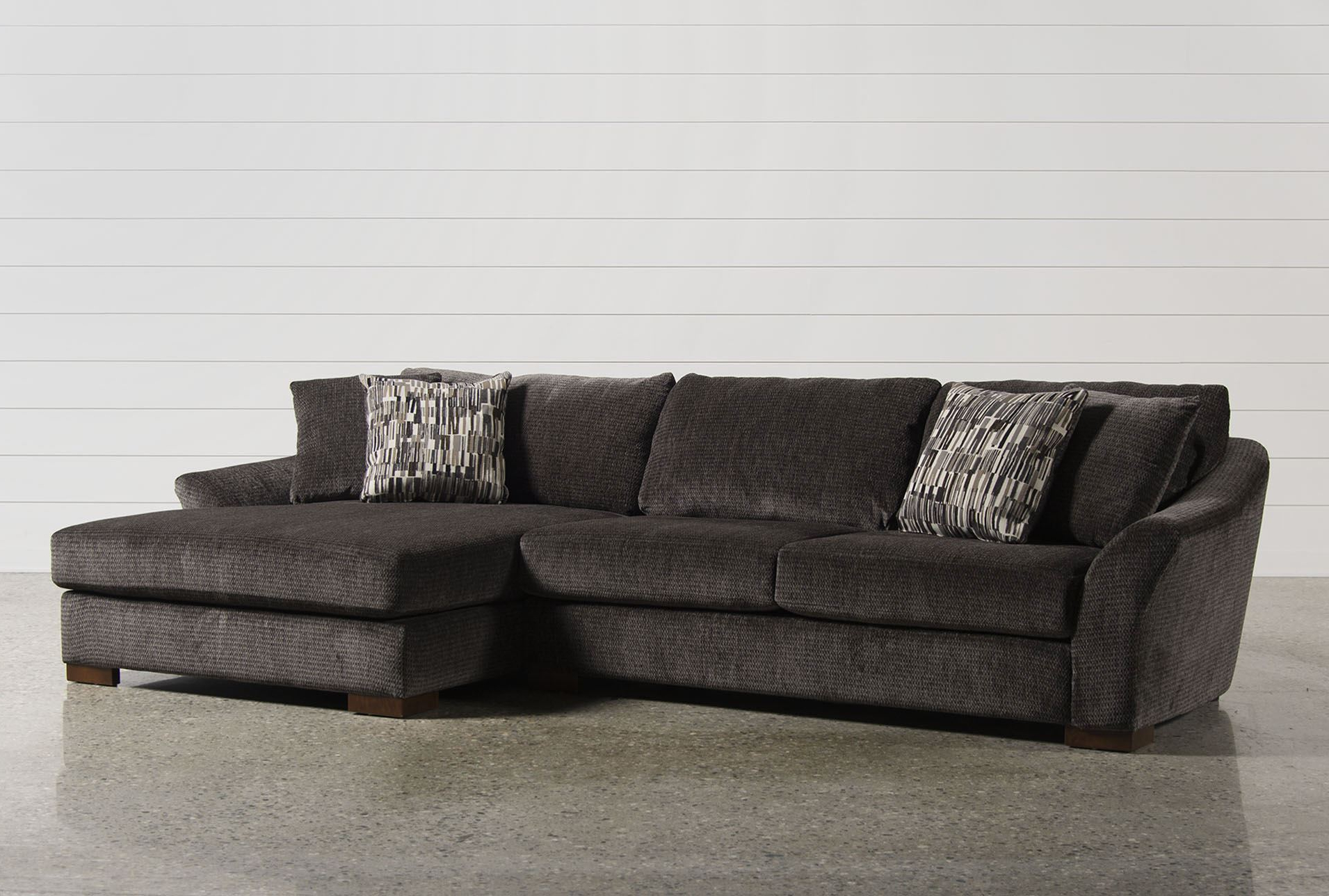 Kuxniya Throughout Widely Used Tenny Dark Grey 2 Piece Left Facing Chaise Sectionals With 2 Headrest (View 20 of 20)