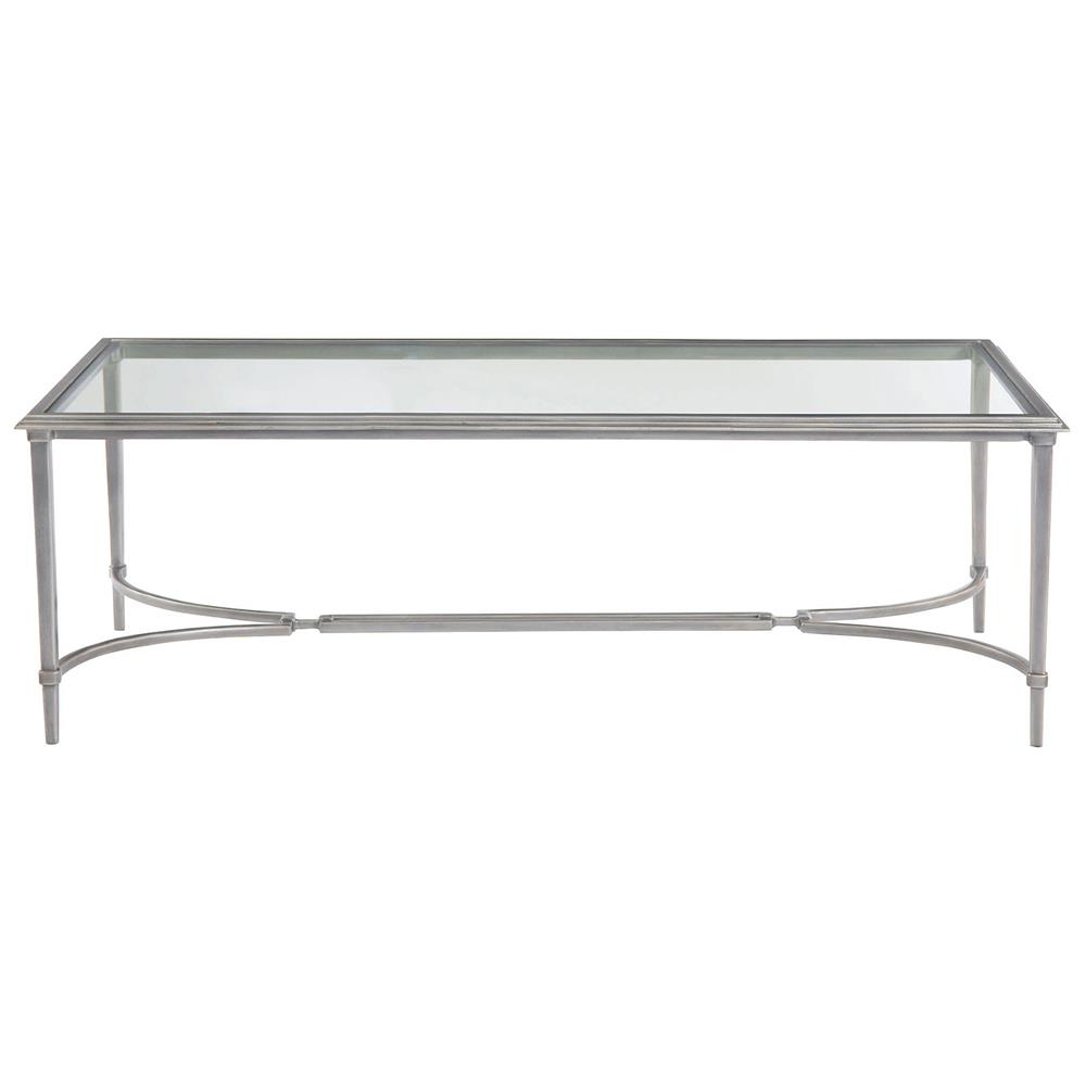 Laeti Industrial Regency Antique Silver Glass Coffee Table (View 15 of 20)
