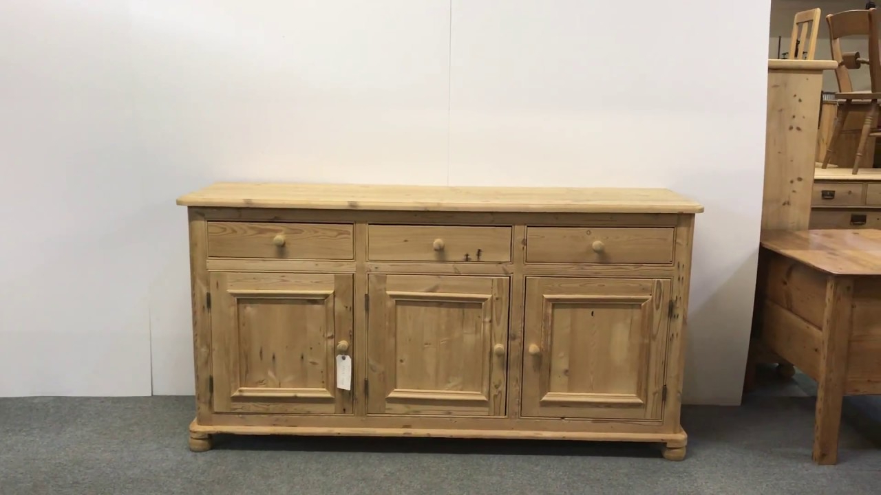 Large Reclaimed Pine Kitchen Sideboard For Sale – Pinefinders Old Regarding Recent Aged Pine 3 Drawer 2 Door Sideboards (View 11 of 20)