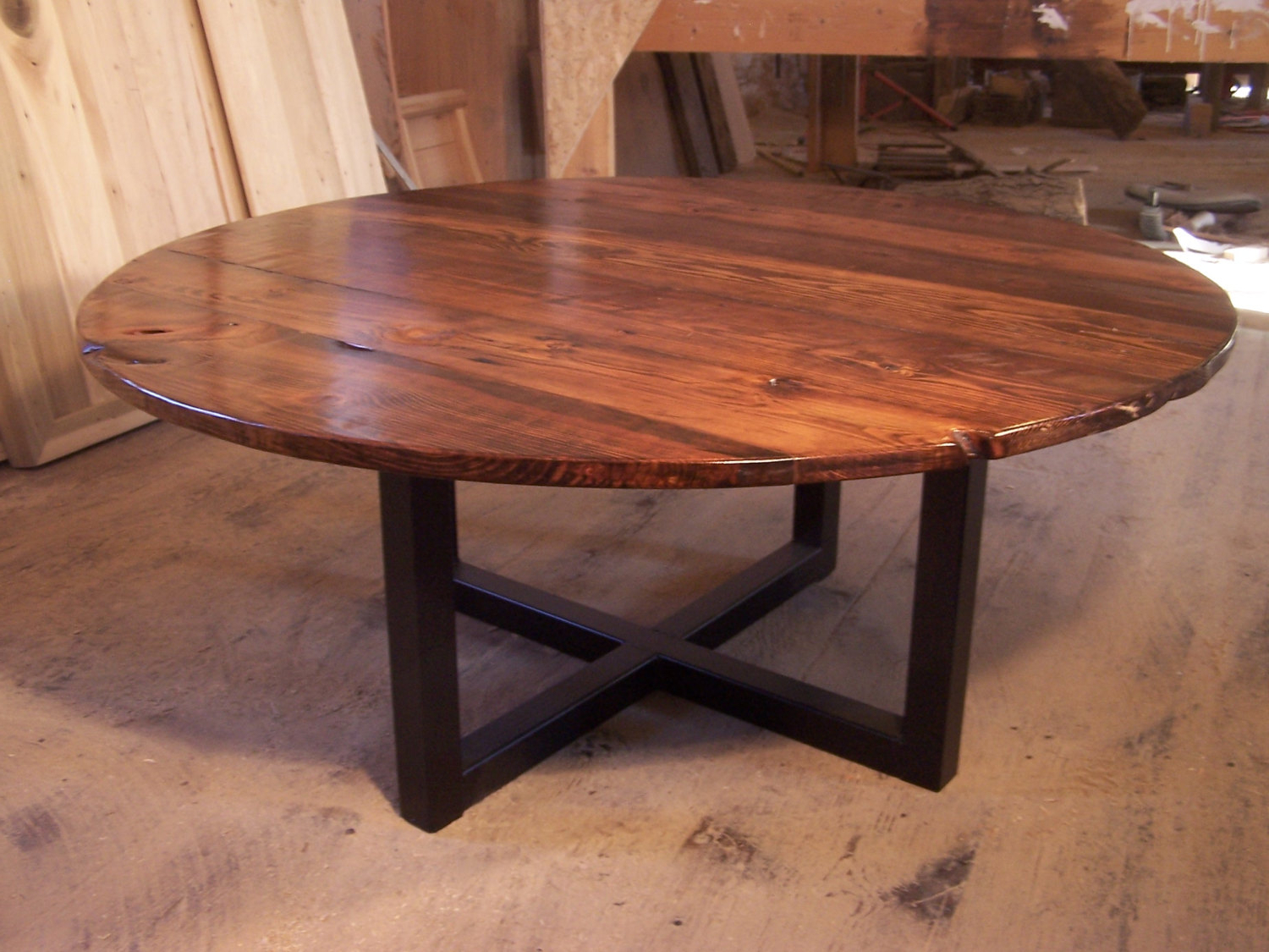 Large Round Table — Fossil Brewing Design : Round Metal Coffee Table Within Most Popular Torrin Round Cocktail Tables (Gallery 17 of 20)