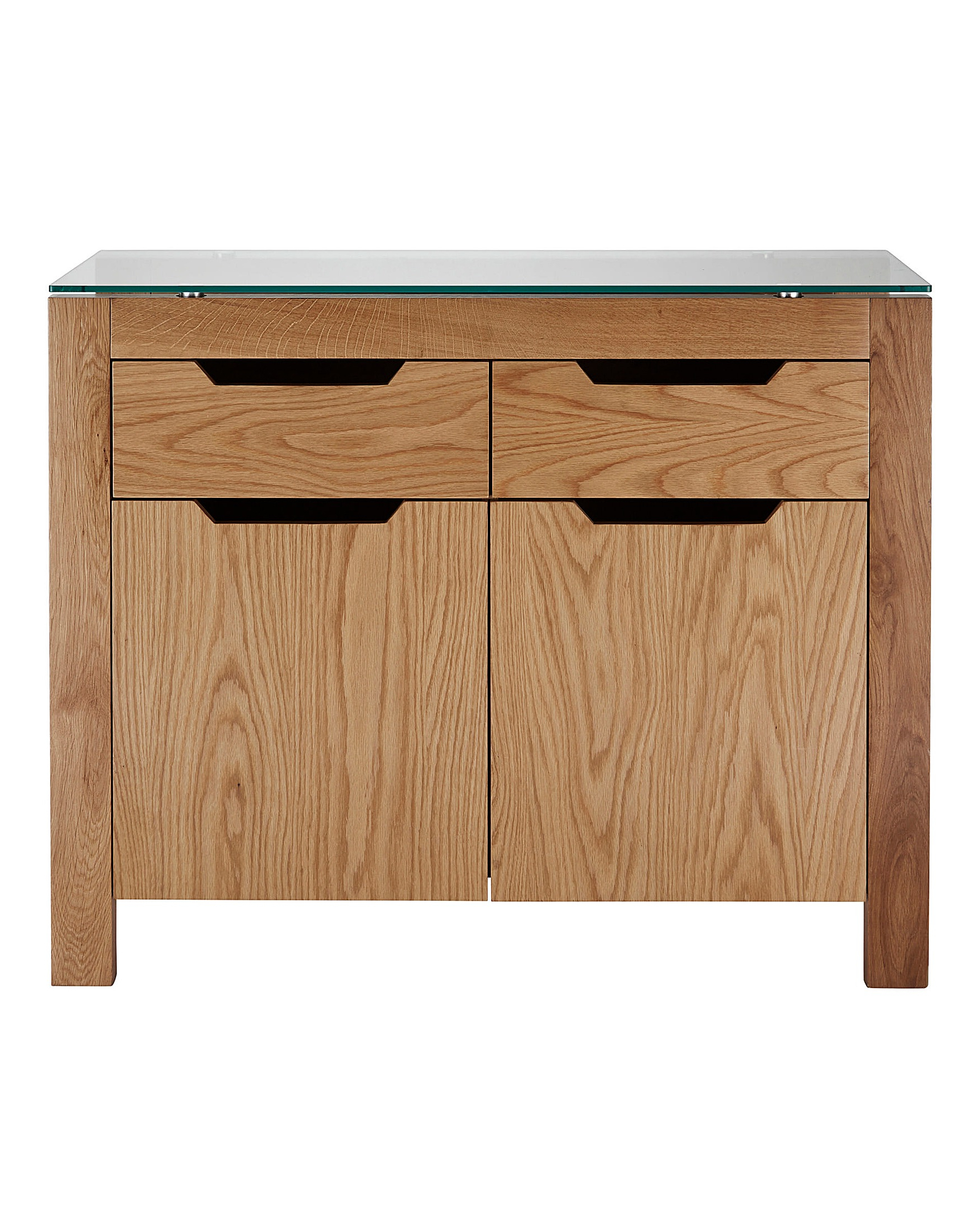 Latest 2 Drawer Sideboards With Regard To Chicago Oak 2 Door 2 Drawer Sideboard (View 11 of 20)