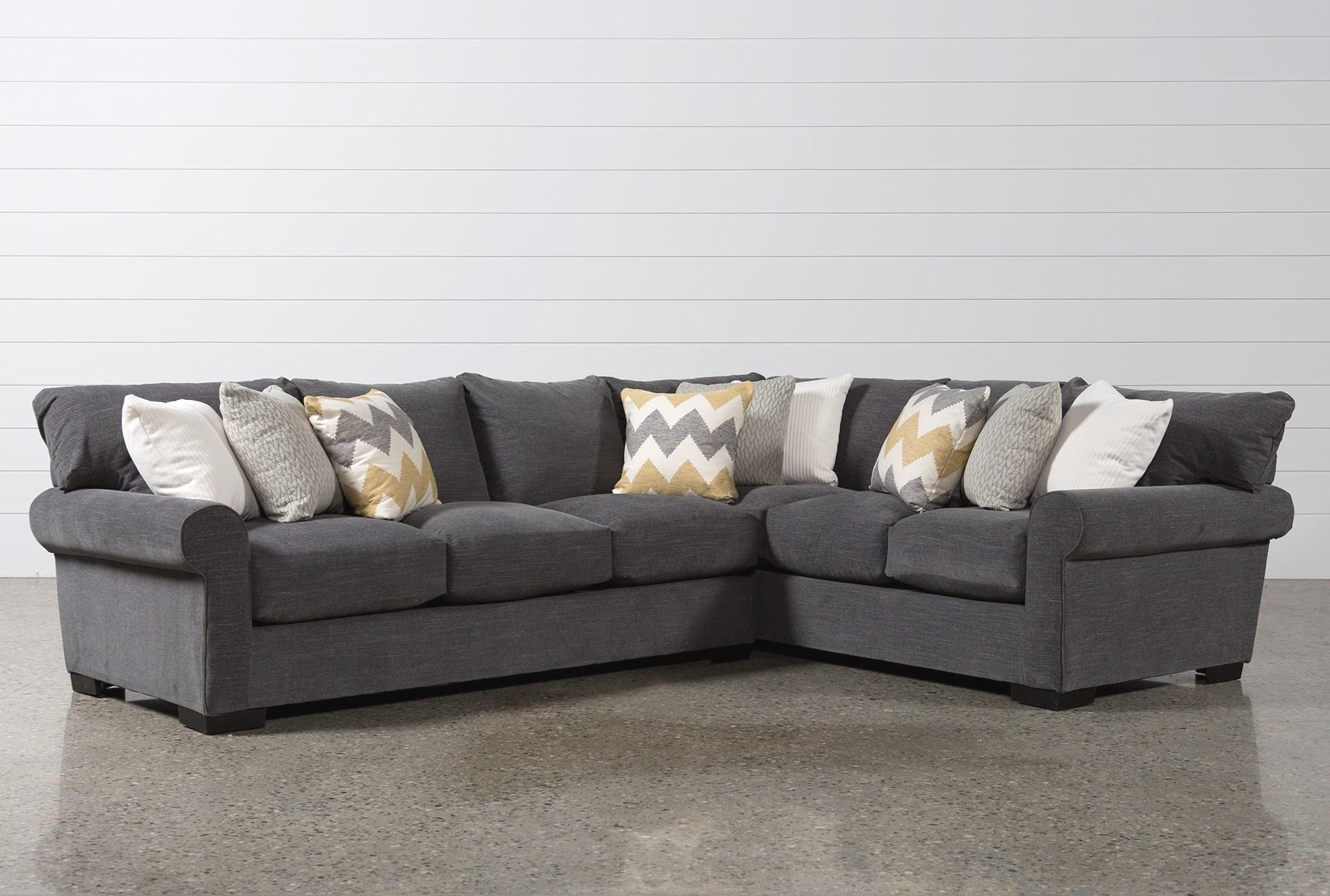Latest Aquarius Light Grey 2 Piece Sectionals With Raf Chaise Intended For Old Corbin Piece Sectional W Raf Chaise Ideas Living Spaces Living (View 9 of 20)