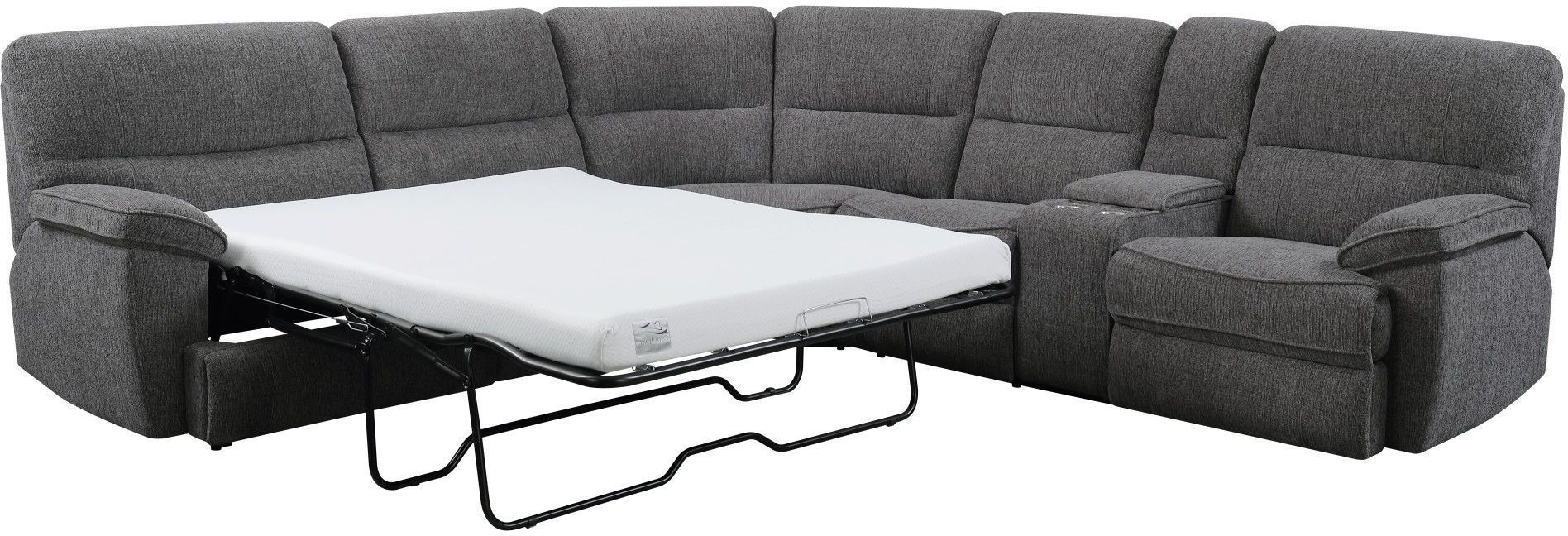 Latest Aurora Platinum 3 Piece Power Reclining Sleeper Sectional From Within Aurora 2 Piece Sectionals (View 11 of 20)