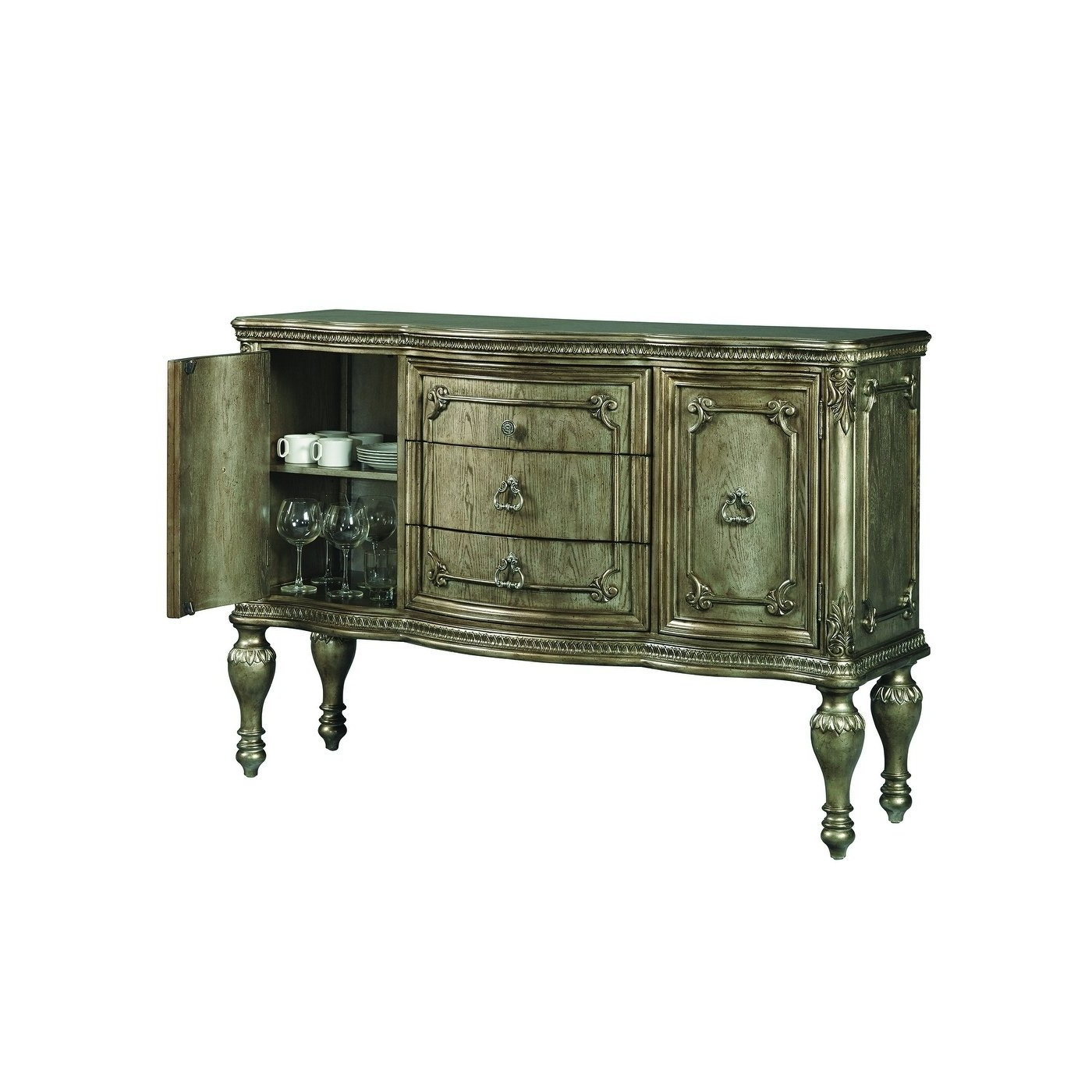 Latest Bale Rustic Grey Sideboards Intended For Shop Valencia Platinum Glam Sideboard – Free Shipping Today (Gallery 3 of 20)