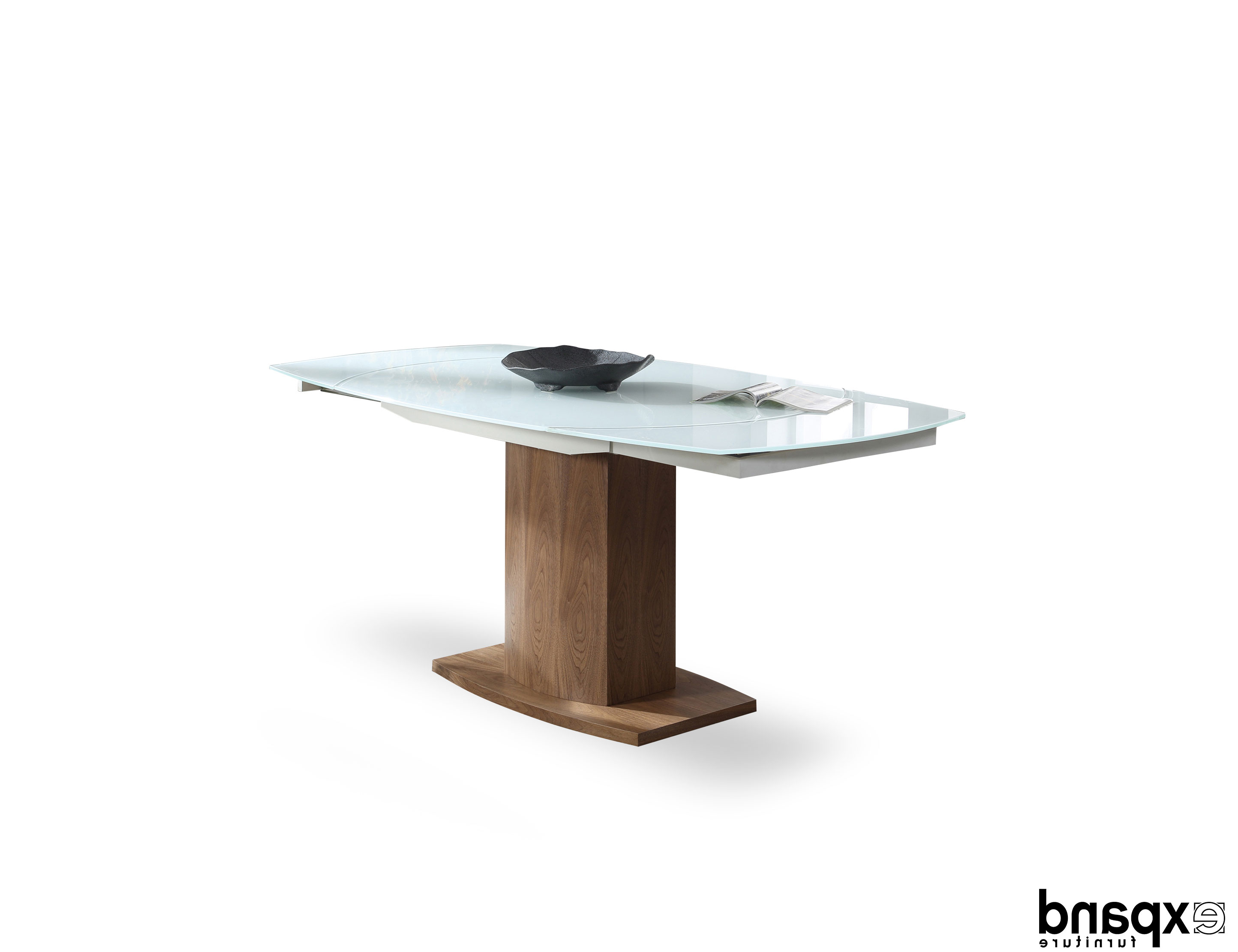Latest Baobab: Oval Glass White Extendable Kitchen Table In Spin Rotating Coffee Tables (Gallery 16 of 20)